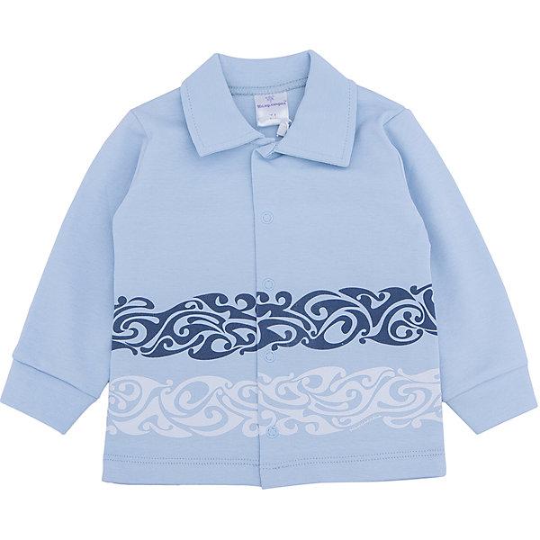 Кофта для мальчика МамуляндияКофточки и распашонки<br>Кофта  с длинными рукавами из трикотажноготна высшего качества (интерлок пенье). Украшена гипоаллергенным принтом на водной основе, удобное расположение кнопок для переодевания малыша.<br>Состав 100% хлопок. <br>Рекомендации по уходу: стирать при 40 С, гладить при средней температуре, носить с удовольствием.  100% хлопок<br>Ширина мм: 157; Глубина мм: 13; Высота мм: 119; Вес г: 200; Цвет: голубой; Возраст от месяцев: 3; Возраст до месяцев: 6; Пол: Мужской; Возраст: Детский; Размер: 68,92,62,74,80,86; SKU: 4735701;