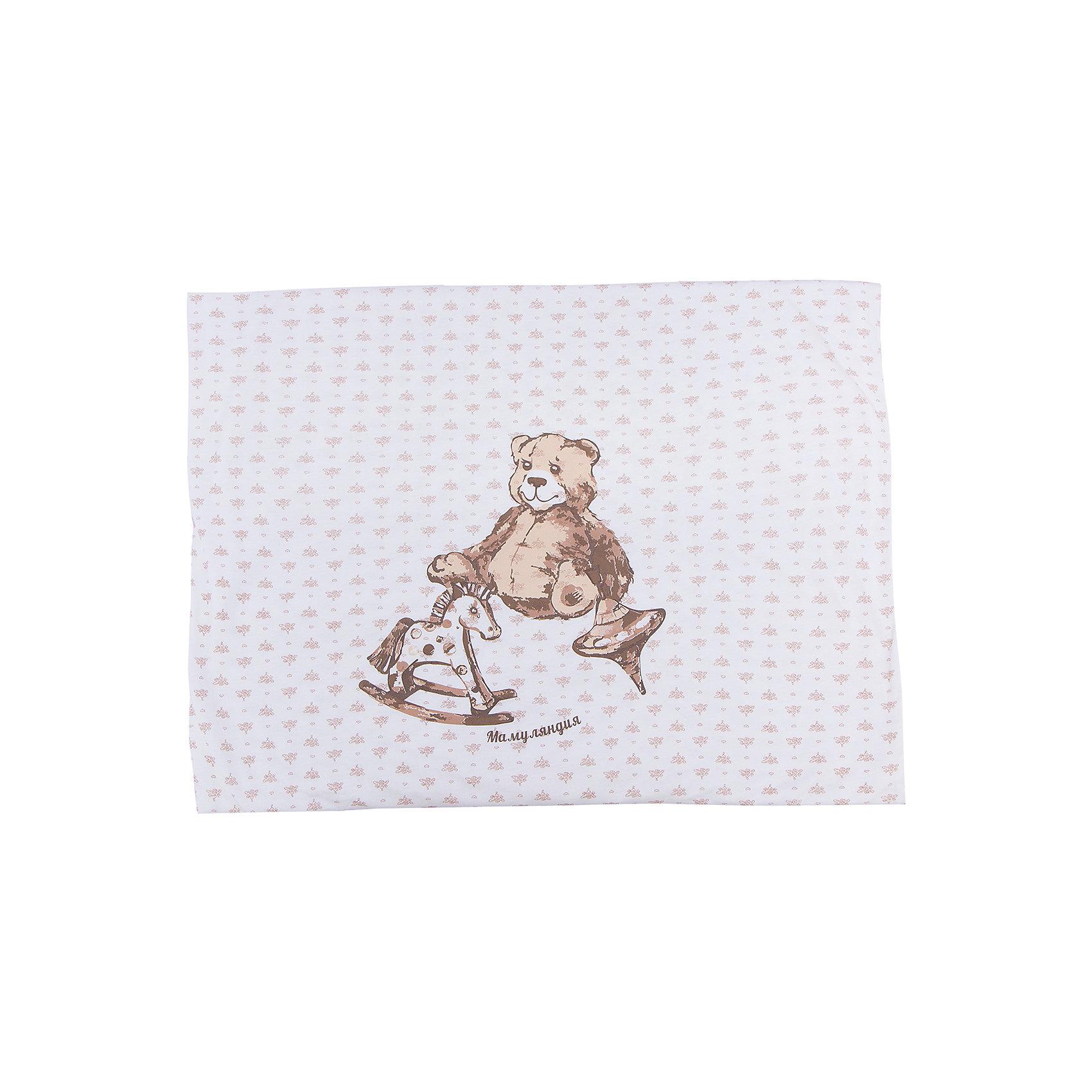 Комплект постельного белья  МамуляндияПледы и одеяла<br>Комплект постельного белья из 3-х предметов. Все предметы продуманы до мелочей: пододеяльник на кнопках, простыня на резинке, комплект выполнен из трикотажноготна высшего качества (пенье) с фирменным набивным рисунком Мамуляндия, украшен гипоаллергенным принтом на водной основе. Дополнительно можно приобрести пижаму из этой же коллекции. <br>В комплект входят: простыня на резинке 60х120 см, наволочка 40х60 см, пододеяльник на кнопках 112х145 см.<br>Рекомендации по уходу: стирать при 40 С, гладить при средней температуре. 100% хлопок<br><br>Ширина мм: 170<br>Глубина мм: 157<br>Высота мм: 67<br>Вес г: 117<br>Цвет: белый<br>Возраст от месяцев: 0<br>Возраст до месяцев: 24<br>Пол: Унисекс<br>Возраст: Детский<br>Размер: one size<br>SKU: 4735744