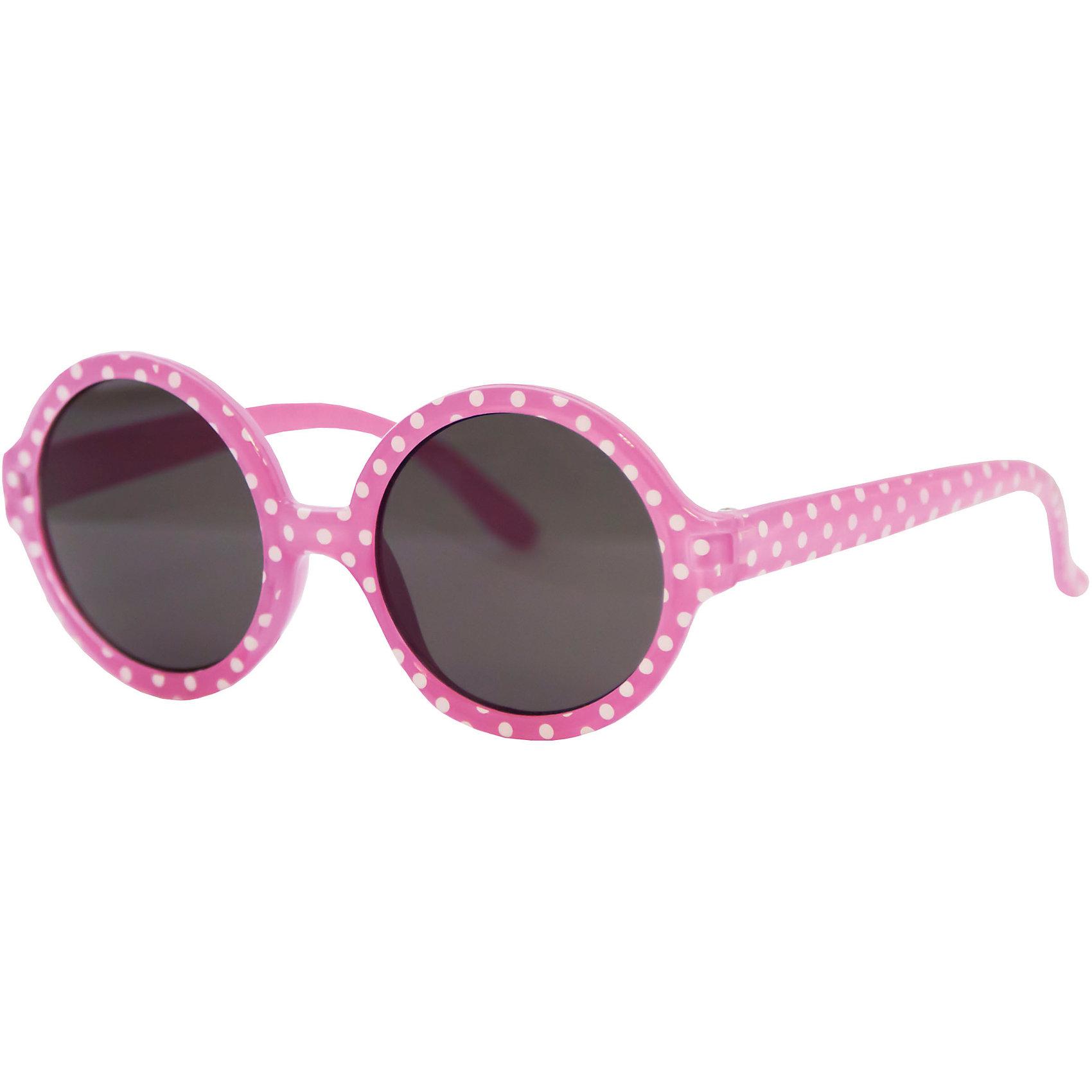 Солнцезащитные очки CaramellaНежно-розовые солнцезащитные очки в белый горошек «Caramella» – это ультрамодный и полезный аксессуар для маленькой модницы. Их пластиковые линзы надежно защищают глаза от коварных ультрафиолетовых лучей, особенно опасных для детских нежных хрусталиков. Удобные дужки комфортно прилегают к голове и почти не ощущаются. Аксессуар изготовлен из пластика, расстояние между дужками на внутренней части очков – 120 мм. Товар произведен в Тайване. Имеется сертификат качества и протокол испытания линз.<br><br>Ширина мм: 170<br>Глубина мм: 157<br>Высота мм: 67<br>Вес г: 117<br>Возраст от месяцев: 36<br>Возраст до месяцев: 2147483647<br>Пол: Женский<br>Возраст: Детский<br>SKU: 4738344