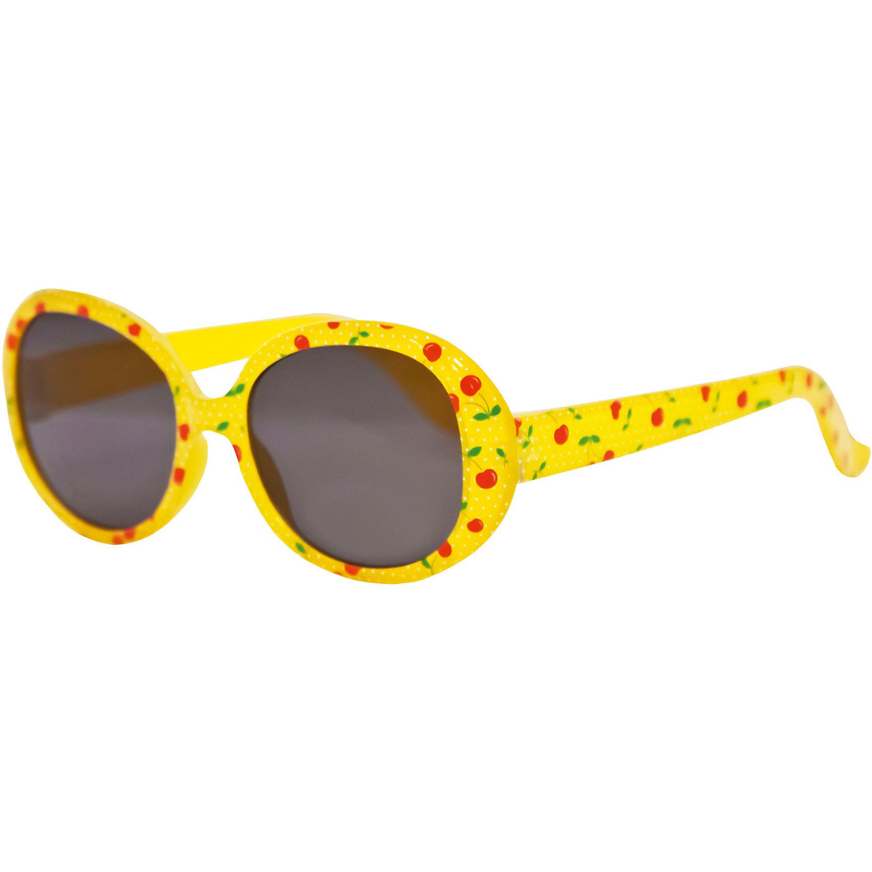 Солнцезащитные очки CaramellaЖелтые солнцезащитные очки «Caramella» со стильным цветочным принтом – это ультрамодный и полезный аксессуар для маленькой модницы. Их пластиковые линзы надежно защищают глаза от коварных ультрафиолетовых лучей, особенно опасных для детских нежных хрусталиков. Удобные дужки комфортно прилегают к голове и почти не ощущаются. Аксессуар изготовлен из пластика, расстояние между дужками на внутренней части очков – 110 мм. Товар произведен в Тайване. Имеется сертификат качества и протокол испытания линз.<br><br>Ширина мм: 170<br>Глубина мм: 157<br>Высота мм: 67<br>Вес г: 117<br>Возраст от месяцев: 36<br>Возраст до месяцев: 2147483647<br>Пол: Женский<br>Возраст: Детский<br>SKU: 4738346