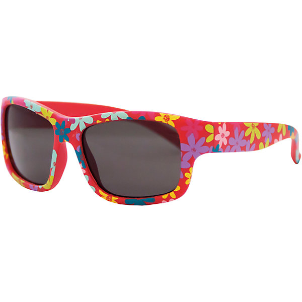 Солнцезащитные очки CaramellaАксессуары<br>Красные солнцезащитные очки «Caramella» со стильным цветочным принтом – это ультрамодный и полезный аксессуар для маленькой модницы. Их пластиковые линзы надежно защищают глаза от коварных ультрафиолетовых лучей, особенно опасных для детских нежных хрусталиков. Удобные дужки комфортно прилегают к голове и почти не ощущаются. Аксессуар изготовлен из пластика, расстояние между дужками на внутренней части очков – 110 мм. Товар произведен в Тайване. Имеется сертификат качества и протокол испытания линз.<br><br>Ширина мм: 170<br>Глубина мм: 157<br>Высота мм: 67<br>Вес г: 118<br>Возраст от месяцев: 36<br>Возраст до месяцев: 2147483647<br>Пол: Женский<br>Возраст: Детский<br>SKU: 4738347