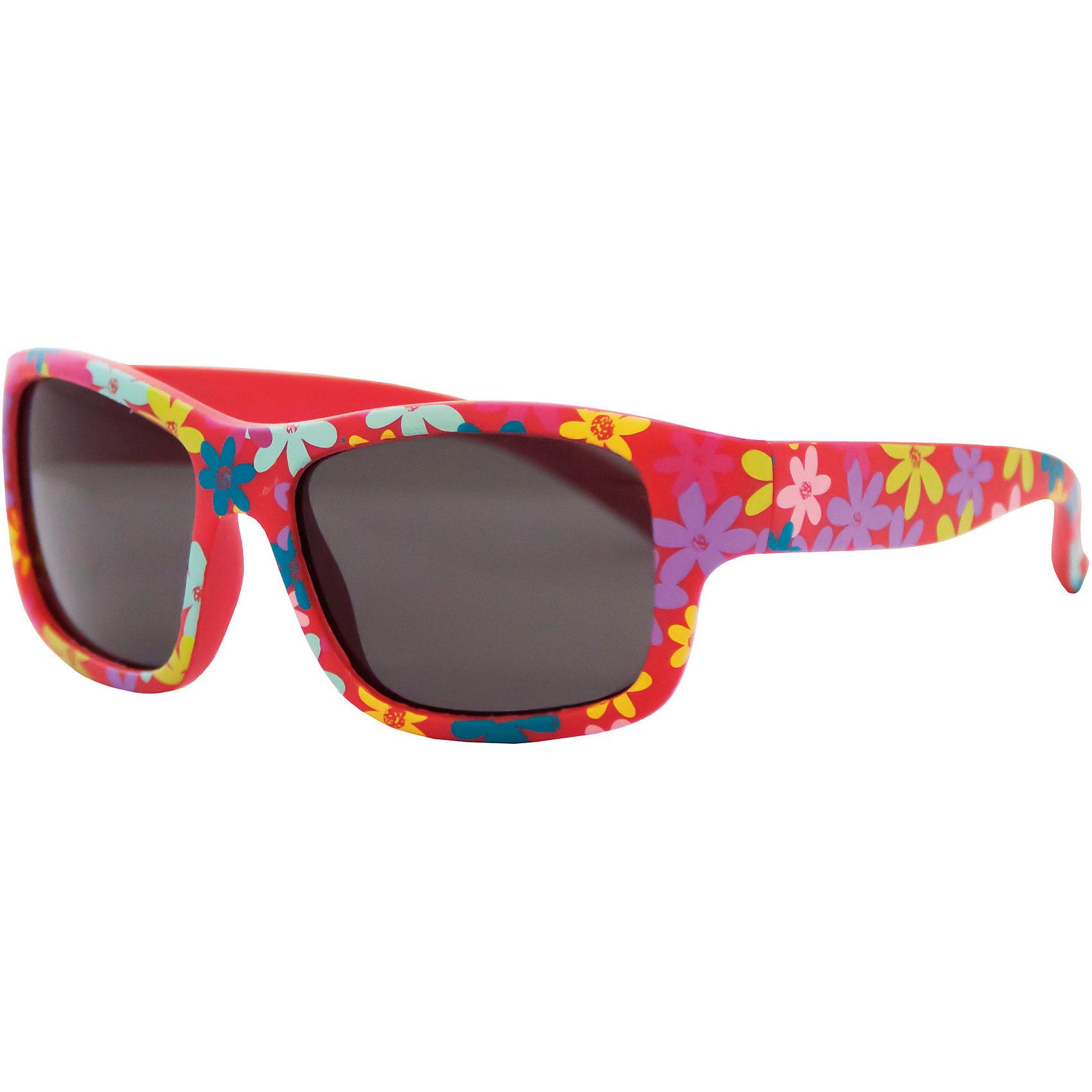 Солнцезащитные очки CaramellaКрасные солнцезащитные очки «Caramella» со стильным цветочным принтом – это ультрамодный и полезный аксессуар для маленькой модницы. Их пластиковые линзы надежно защищают глаза от коварных ультрафиолетовых лучей, особенно опасных для детских нежных хрусталиков. Удобные дужки комфортно прилегают к голове и почти не ощущаются. Аксессуар изготовлен из пластика, расстояние между дужками на внутренней части очков – 110 мм. Товар произведен в Тайване. Имеется сертификат качества и протокол испытания линз.<br><br>Ширина мм: 170<br>Глубина мм: 157<br>Высота мм: 67<br>Вес г: 118<br>Возраст от месяцев: 36<br>Возраст до месяцев: 2147483647<br>Пол: Женский<br>Возраст: Детский<br>SKU: 4738347