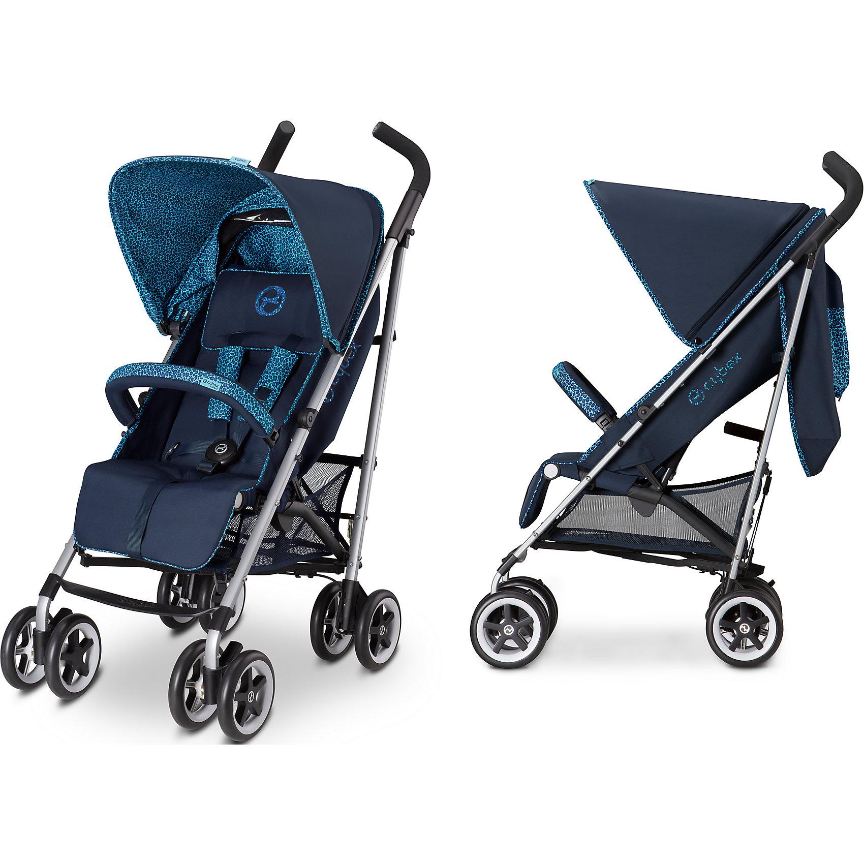 Коляска-трость Cybex Topaz Royal, синий 2016Коляски-трости<br>Яркие цвета непременно понравятся Вам и Вашему малышу. Коляска-трость Cybex Topaz - это идеальный транспорт для детей активных родителей. Благодаря своему стильному внешнему виду и функциональности, она удовлетворит требования даже самых притязательных родителей. Коляска  легкая, маневренная, крепкая – прекрасный вариант как для городских прогулок, так и для отдыха.<br>Коляска подходит для малыша с 4 месяцев и до 3 лет.<br><br>Особенности:<br>- Спинка регулируется в 4-х положениях, в том числе имеется и почти горизонтальное, и малыш, и ребенок повзрослее сможет отдохнуть на прогулке (170?);<br>- Одним движением руки вы сможете отрегулировать пятиточечные ремни безопасности;<br>- Ткань коляски Cybex Topaz выполнена их качественных легко дышащих материалов, что особенно важно летом , в жаркую погоду;<br>- Объемный капюшон защитит малыша и от палящих лучей солнца, и от ветра;<br>- На капюшоне есть смотровое окошко, которое всегда позволит маме держать малыша в поле зрения;<br>- На капюшоне есть удобный дополнительный карман, в который можно положить необходимые мелочи;<br>- Для более удобного положения головы и плеч коляска трость Cybex Topaz имеет мягкую подкладку;<br>- Подножка регулируется в двух положениях, тем самым удлиняя спальное место, что особенно пригодится уже подросшим детям;<br>- Ручки регулируются по высоте, обеспечивая комфорт при прогулке родителю любого роста;<br>- Ручки эргономичной формы, удобные, с не скользящим покрытием;<br>- Есть съемный бампер с мягкой обивкой, обеспечивающий малышу дополнительный комфорт;<br>- Для переноски предусмотрена специальная ручка;<br>- 4 пары сдвоенных колес, выполненных из морозоустойчивого литого бесшумного пластика и плотной резины, обеспечивают необходимую маневренность;<br>- Передние колеса коляски поворотные, но в случае необходимости их можно зафиксировать;<br>- Подвеска на всех 4 колесах позволит сгладить неровности на дорогах;<br>- Рама выполнена и