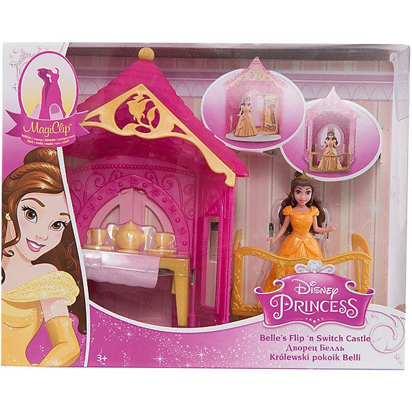 Набор Комната принцессы Бэлль, с куклой и аксессуарами, Disney PrincessИгрушки<br>Характеристики:<br><br>• возраст: от 3 лет;<br>• тип игрушки: игровой набор;<br>• комплект: кукла, домик, аксессуары;<br>• размер упаковки: 20,5х25,5х8,5 см;<br>• материал: пластик, текстиль;<br>• бренд: Mattel;<br>• страна производитель: Китай.<br><br>Набор «Комната принцессы Бэлль»  с куклой и аксессуарами  Disney Princess – прекрасный подарок для девочки от трех лет. Игрушечная комната создана по мотивам всеми любимого мультфильма «Красавица и чудовище». Удивительный замок, в котором находится комната, позволит окунуться в мир волшебства. <br><br>Комната украшены узорами, в ней есть столик с посудой для чаепития, который, если его перевернуть, превращается в шкаф. На Белль одето красивое нежно-желтого цвета платье, которое легко снимается и его можно повесить в шкаф. Игровой набор создан из качественного пластика с вкраплениями блесток. <br><br>Набор «Комната принцессы Бэлль»  с куклой и аксессуарами  Disney Princess<br>можно купить в нашем интернет-магазине.<br><br>Ширина мм: 205<br>Глубина мм: 80<br>Высота мм: 250<br>Вес г: 398<br>Возраст от месяцев: 36<br>Возраст до месяцев: 144<br>Пол: Женский<br>Возраст: Детский<br>SKU: 4739607