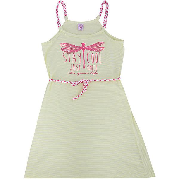 Платье для девочки SELAПлатья и сарафаны<br>Стильное платье для девочки от популярного бренда SELA. Изделие выполнено из высококачественного трикотажа, мягкого, эластичного и приятного к телу, и обладает следующими особенностями:<br>- белый цвет, милый принт на груди;<br>- эффектные бретели и пояс-шнурок;<br>- без рукавов;<br>- округлый вырез горловины;<br>- А-силуэт;<br>- комфортный крой, обеспечивающий свободу движения.<br>Прекрасный выбор для летних дней!<br><br>Дополнительная информация:<br>- состав: 95% хлопок, 5% эластан<br>- цвет: белый+розовый<br><br>Платье для девочки SELA (СЕЛА) можно купить в нашем магазине<br><br>Ширина мм: 236<br>Глубина мм: 16<br>Высота мм: 184<br>Вес г: 177<br>Цвет: зеленый<br>Возраст от месяцев: 132<br>Возраст до месяцев: 144<br>Пол: Женский<br>Возраст: Детский<br>Размер: 152,116,146,140,134,128,122<br>SKU: 4741597