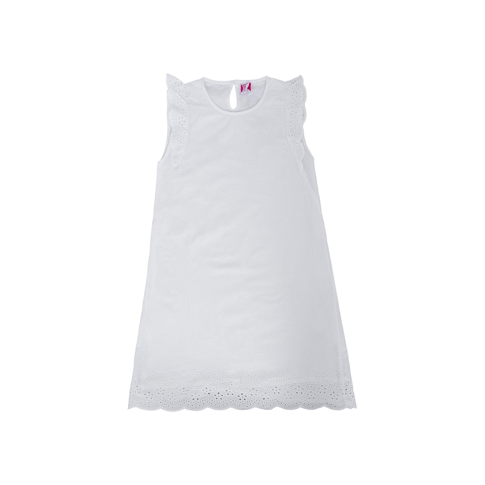 Платье для девочки SELAОчаровательное платье для девочки от популярного бренда SELA приведет в восторг любую модницу! Белоснежное платье выглядит очень нежно, легко, оно выполнено из воздушного материала - натурального, дышащего, мягкого и приятного к телу. Изделие обладает следующими особенностями:<br>- белый цвет, привлекательный дизайн;<br>- расширяющийся книзу силуэт;<br>- кокетливые рукава-крылышки и оборка на подоле выполнены из шитья в тон;<br>- округлый вырез горловины;<br>- застегивается на 1 пуговку сзади;<br>- небольшой каплевидный вырез на спинке;<br>- комфортный крой.<br>Прекрасное платье для юной прелестницы!<br><br>Дополнительная информация:<br>- состав: 100% хлопок<br>- цвет: белый<br><br>Платье для девочки SELA можно купить в нашем магазине<br><br>Ширина мм: 236<br>Глубина мм: 16<br>Высота мм: 184<br>Вес г: 177<br>Цвет: белый<br>Возраст от месяцев: 132<br>Возраст до месяцев: 144<br>Пол: Женский<br>Возраст: Детский<br>Размер: 152,116,122,128,134,140,146<br>SKU: 4741641