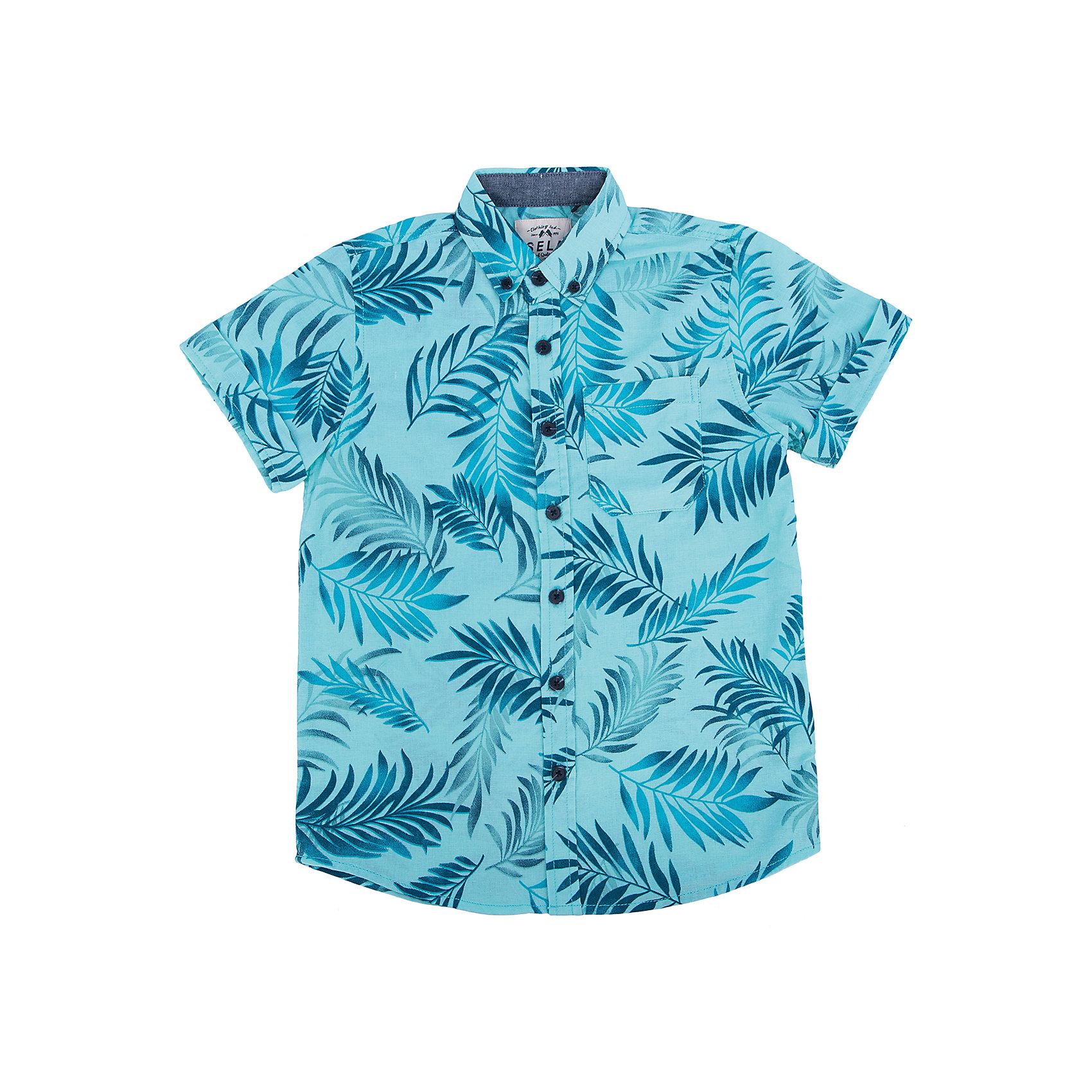 Рубашка для мальчика SELAБлузки и рубашки<br>Модная рубашка от известной марки SELА поможет разнообразить летний гардероб мальчика, создать легкий подходящий погоде ансамбль. Удобный крой и качественный материал обеспечат ребенку комфорт при ношении этой вещи. <br>Смотрится очень модно и нарядно. Материал содержит  натуральный хлопок, дышащий и гипоаллергенный. <br><br>Дополнительная информация:<br><br>материал: 55% лён, 45% хлопок;<br>цвет: ментоловый;<br>короткие рукава;<br>прямой силуэт;<br>уход за изделием: стирка в машине при температуре до 30°С, не отбеливать, гладить при низкой температуре.<br><br>Рубашку  от бренда SELА (Села) можно купить в нашем магазине.<br><br>Ширина мм: 174<br>Глубина мм: 10<br>Высота мм: 169<br>Вес г: 157<br>Цвет: зеленый<br>Возраст от месяцев: 132<br>Возраст до месяцев: 144<br>Пол: Мужской<br>Возраст: Детский<br>Размер: 152,116,122,128,134,140,146<br>SKU: 4741703