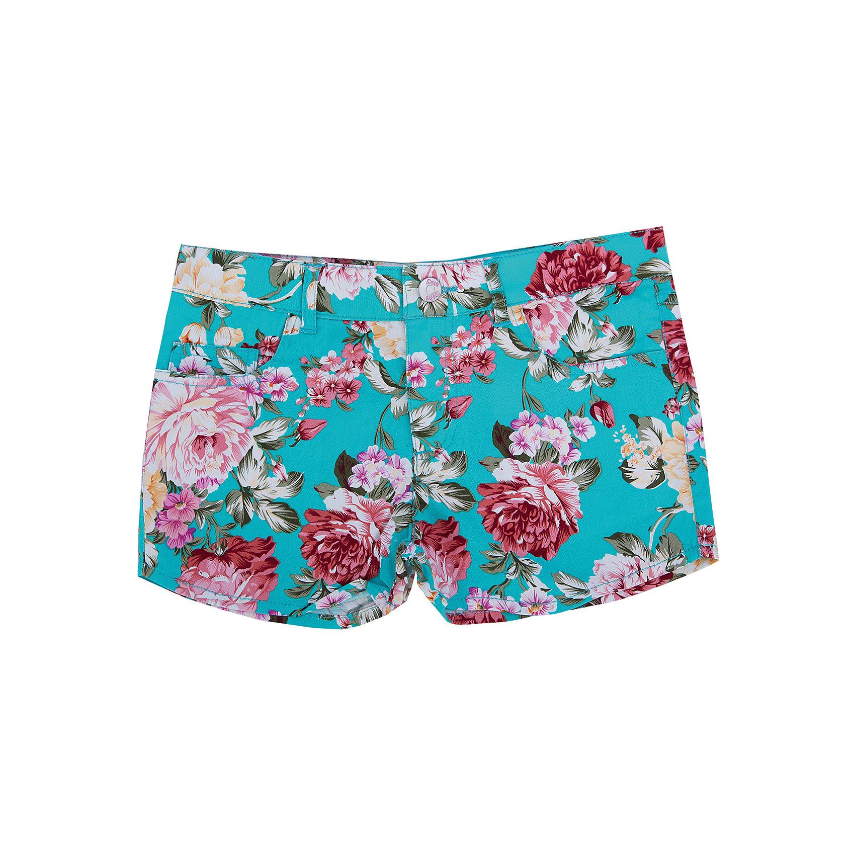 Шорты для девочки SELAШорты, бриджи, капри<br>Потрясающие шорты для девочки от популярного бренда SELA. Изделие выполнено из плотного материала высокого качества, хорошо держащего форму и приятного к телу, и обладает следующими особенностями:<br>- насыщенный цвет, актуальный цветочный принт;<br>- облегающий фасон;<br>- широкий пояс с удобной застежкой, шлевки для ремня;<br>- 5 карманов.<br>Прекрасный выбор для юной модницы!<br><br>Дополнительная информация:<br>- состав: 98% хлопок, 2% эластан<br><br>Шорты для девочки SELA можно купить в нашем магазине<br><br>Ширина мм: 191<br>Глубина мм: 10<br>Высота мм: 175<br>Вес г: 273<br>Цвет: голубой<br>Возраст от месяцев: 84<br>Возраст до месяцев: 96<br>Пол: Женский<br>Возраст: Детский<br>Размер: 128,140,146,152,134,116,122<br>SKU: 4741831