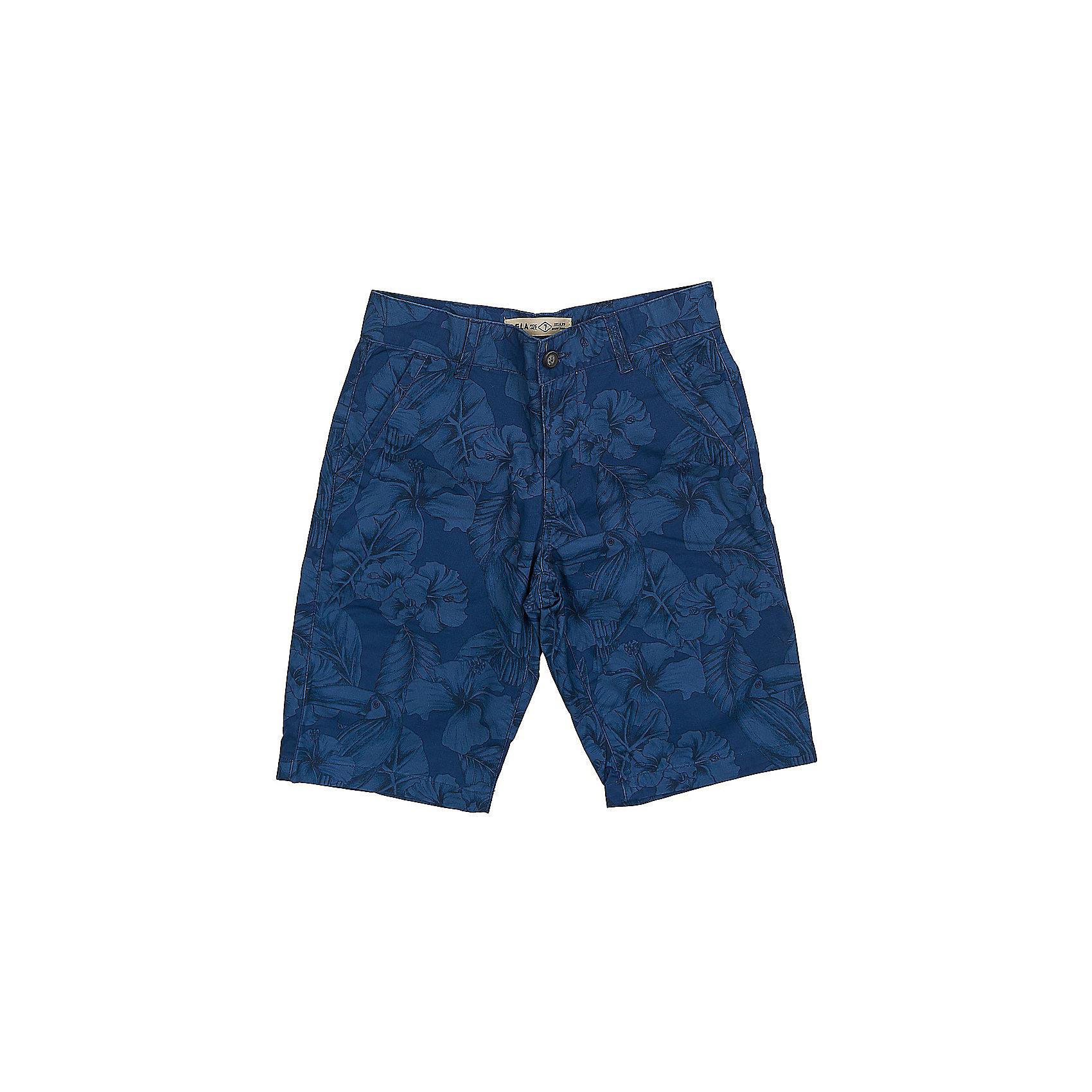 Шорты для мальчика SELAСтильные шорты для мальчика от популярного бренда SELA. Изделие выполнено из натурального гипоаллергенного материала, хорошо держащего форму, дышащего и приятного к телу, и обладает следующими особенностями:<br>- темно-синий цвет, эффектный принт;<br>- пояс со шлевками для ремня;<br>- удобная застежка;<br>- функциональные карманы;<br>- комфортный крой, не сковывающий движения.<br>Отличный выбор для активного лета!<br><br>Дополнительная информация:<br>- состав: 100% хлопок<br>- цвет: темно-синий + принт<br><br>Шорты для мальчика SELA (СЕЛА) можно купить в нашем магазине<br><br>Ширина мм: 191<br>Глубина мм: 10<br>Высота мм: 175<br>Вес г: 273<br>Цвет: синий<br>Возраст от месяцев: 120<br>Возраст до месяцев: 132<br>Пол: Мужской<br>Возраст: Детский<br>Размер: 152,140,134,128,122,146,116<br>SKU: 4741839