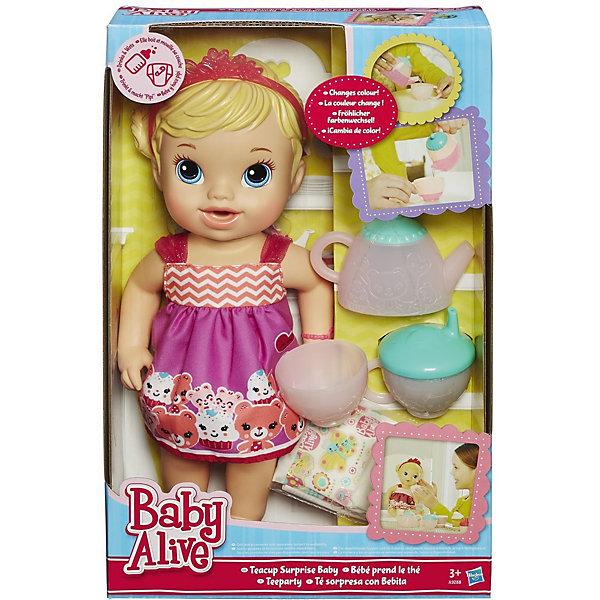 Кукла Гостеприимная малютка, BABY ALIVEКуклы<br>Кукла Гостеприимная малютка, 35см, BABY ALIVE станет отличным подарком для каждой маленькой девочки. <br>Кукла выглядит как настоящий ребенок. Малютка одета в легкое платьице, а голову украшает розовая тиара. Кукла умеет пить: ее можно поить из поильника или из чашечки, главное - не забыть потом поменять ей подгузник. <br><br><br>Дополнительная информация:<br><br>- В комплект входит: кукла, чайник, чашечка, поильник и подгузник. <br>- Высота куклы: 33 см.<br>- Размер упаковки: 37 x 23 x 10 <br>- Материал: пластмасса, текстиль.<br><br>Куклу Гостеприимная малютка, 35см, BABY ALIVE можно купить в нашем интернет-магазине.<br><br>Ширина мм: 102<br>Глубина мм: 229<br>Высота мм: 356<br>Вес г: 730<br>Возраст от месяцев: 36<br>Возраст до месяцев: 120<br>Пол: Женский<br>Возраст: Детский<br>SKU: 4743041