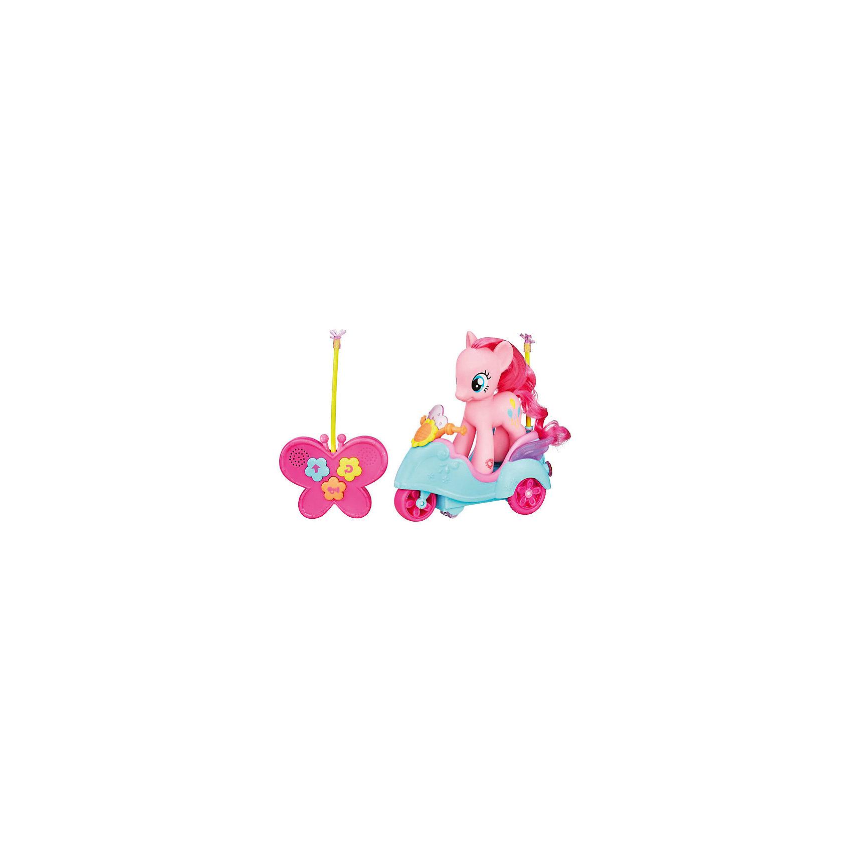 Hasbro Флаттершай на скутере, р/у, My Little Pony оружие игрушечное hasbro hasbro бластер nerf n strike mega rotofury