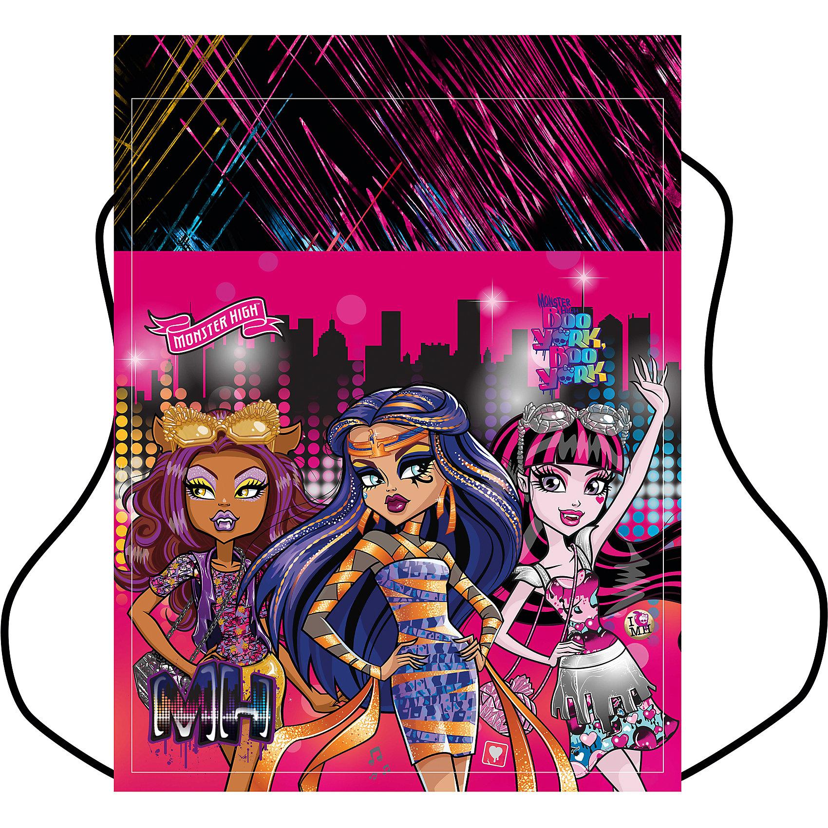 Мешок для обуви, 1 отделение, Monster HighОчень симпатичный и удобный мешок для обуви позволит ребенку с комфортом носить сменку или кроссовки. Он декорирован изображением любимых девочками героинь мультфильма Monster High. Выглядит очень стильно.<br>Мешок для переноски обуви затягивается сверху шнуром-лямкой и носится, как рюкзак. Выполнен мешок из плотной непромокаемой ткани. Сделан из качественных материалов и прослужит долго. Изделие подойдет не только для школы, но и для посещения внеклассных занятий и тренировок.<br><br>Особенности изделия:<br><br>цвет: разноцветный;<br>материал: водонепроницаемая ткань;<br>вес: 100 г.<br><br>Мешок для обуви, 1 отделение, Monster High можно купить в нашем магазине<br><br>Ширина мм: 5<br>Глубина мм: 32<br>Высота мм: 42<br>Вес г: 100<br>Возраст от месяцев: 72<br>Возраст до месяцев: 144<br>Пол: Женский<br>Возраст: Детский<br>SKU: 4743941