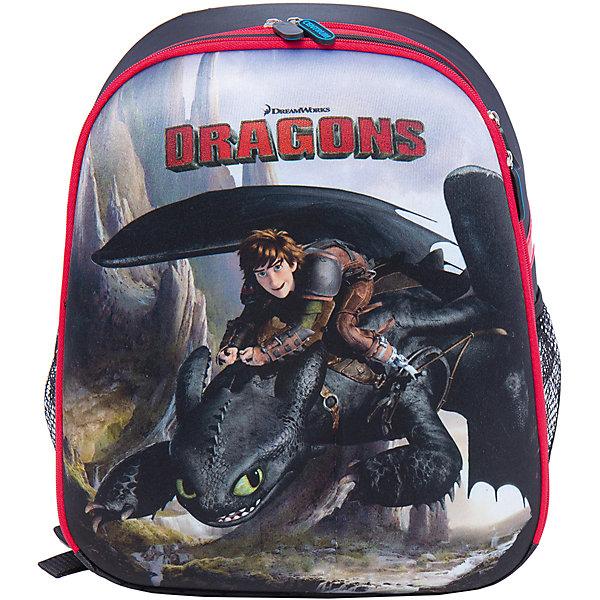 Школьный рюкзак ДраконыШкольные рюкзаки<br>Рюкзак  с изображением дракона из мультфильма идеально подходит для похода ребенка в школу. Он очень стильно выглядит и может вместить в себя всё необходимое для занятий. Главное - у него жесткая ортопедическая спинка, позволяющая формировать у ребенка правильную осанку, передняя и боковые части - вспененный формованный микропористый полимер, жесткое ударопрочное дно, пластиковые ножки.<br>В рюкзаке - два больших отделения, также есть два удобных боковых кармана. Изделие дополнено светоотражающими элементами для повышения безопасности ребенка. На рюкзаке - удобные широкие лямки, петля, ручка для переноса. Застегивается на молнию. Изделие произведено из качественных и безопасных для ребенка материалов.<br><br>Дополнительная информация:<br><br>цвет: разноцветный;<br>материал: нейлон, полиэстер;<br>вес: 900 г;<br>широкие лямки;<br>жесткая ортопедическая спинка;<br>жесткое ударопрочное дно;<br>пластиковые ножки;<br>боковые карманы.<br><br>Школьный рюкзак Драконы можно купить в нашем магазине.<br><br>Ширина мм: 170<br>Глубина мм: 315<br>Высота мм: 380<br>Вес г: 90<br>Возраст от месяцев: 72<br>Возраст до месяцев: 144<br>Пол: Мужской<br>Возраст: Детский<br>SKU: 4743944