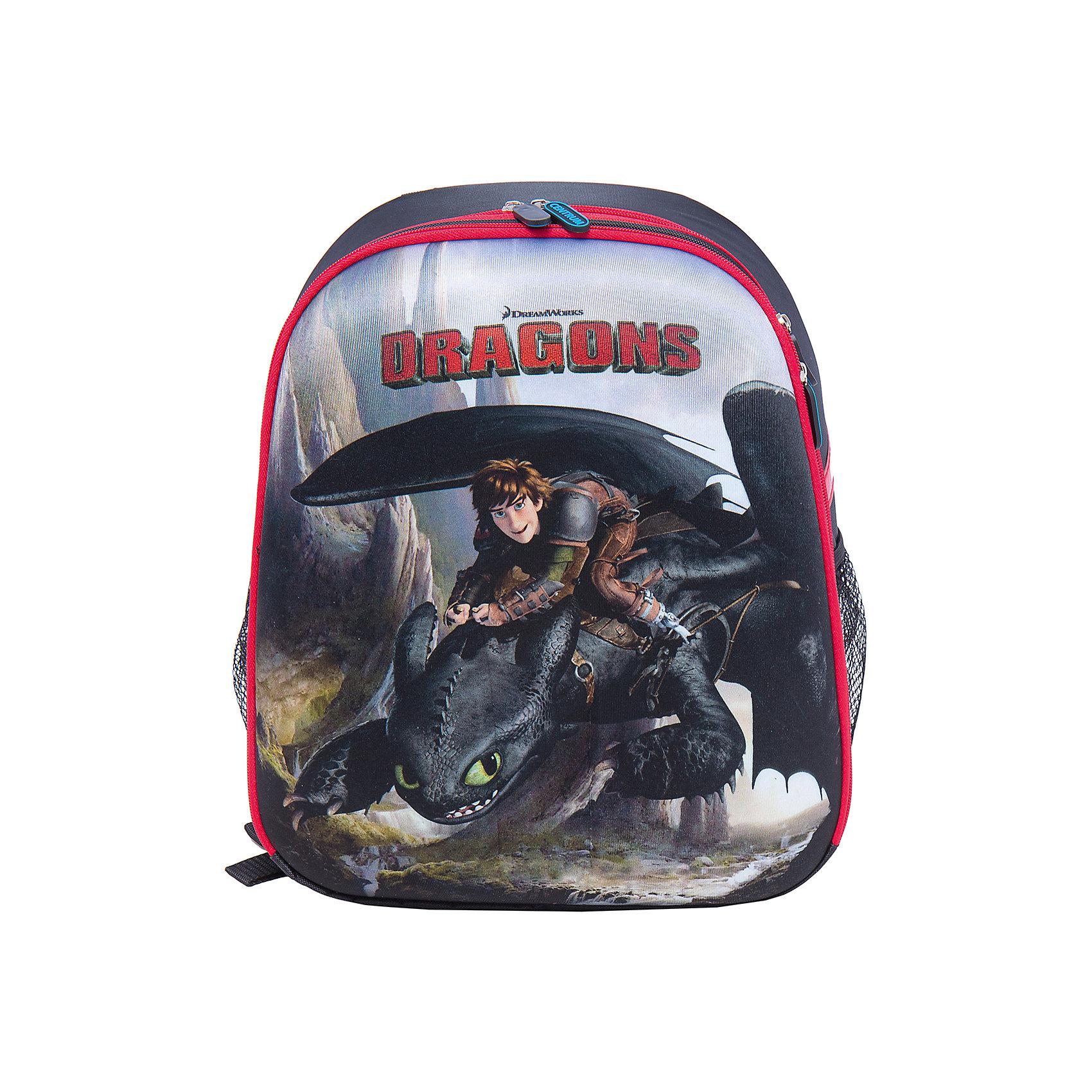 Школьный рюкзак ДраконыРюкзак  с изображением дракона из мультфильма идеально подходит для похода ребенка в школу. Он очень стильно выглядит и может вместить в себя всё необходимое для занятий. Главное - у него жесткая ортопедическая спинка, позволяющая формировать у ребенка правильную осанку, передняя и боковые части - вспененный формованный микропористый полимер, жесткое ударопрочное дно, пластиковые ножки.<br>В рюкзаке - два больших отделения, также есть два удобных боковых кармана. Изделие дополнено светоотражающими элементами для повышения безопасности ребенка. На рюкзаке - удобные широкие лямки, петля, ручка для переноса. Застегивается на молнию. Изделие произведено из качественных и безопасных для ребенка материалов.<br><br>Дополнительная информация:<br><br>цвет: разноцветный;<br>материал: нейлон, полиэстер;<br>вес: 900 г;<br>широкие лямки;<br>жесткая ортопедическая спинка;<br>жесткое ударопрочное дно;<br>пластиковые ножки;<br>боковые карманы.<br><br>Школьный рюкзак Драконы можно купить в нашем магазине.<br><br>Ширина мм: 170<br>Глубина мм: 315<br>Высота мм: 380<br>Вес г: 90<br>Возраст от месяцев: 72<br>Возраст до месяцев: 144<br>Пол: Мужской<br>Возраст: Детский<br>SKU: 4743944