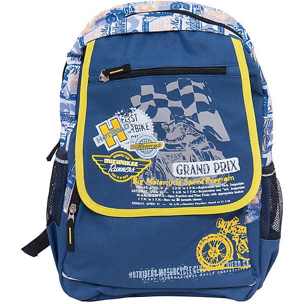 Школьный рюкзакШкольные рюкзаки<br>Рюкзак с оригинальным изображением идеально подходит для похода ребенка в школу. Он очень стильно выглядит и может вместить в себя всё необходимое для занятий. Главное - у него жесткая ортопедическая спинка, позволяющая формировать у ребенка правильную осанку.<br>В рюкзаке есть два удобных боковых кармана. На рюкзаке - удобные широкие лямки, и ручка для переноса. Застегивается на молнию. Изделие произведено из качественных и безопасных для ребенка материалов.<br><br>Дополнительная информация:<br><br>цвет: синий;<br>материал: полиэстер;<br>вес: 520 г;<br>широкие лямки;<br>жесткая ортопедическая спинка;<br>размеры: 48х28х13 см;<br>боковые карманы.<br><br>Школьный рюкзак можно купить в нашем магазине.<br>Ширина мм: 190; Глубина мм: 280; Высота мм: 480; Вес г: 520; Возраст от месяцев: 72; Возраст до месяцев: 144; Пол: Мужской; Возраст: Детский; SKU: 4743951;