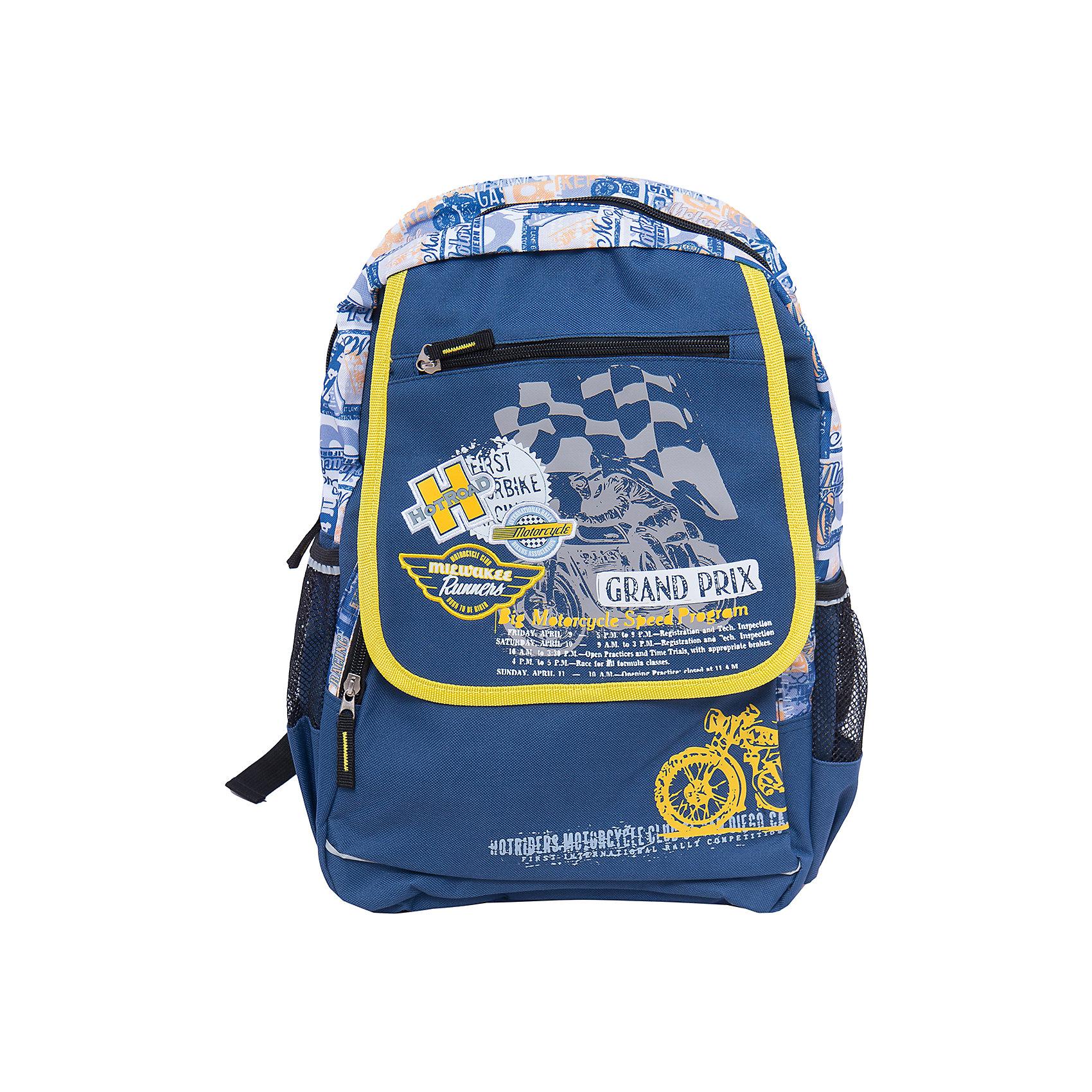 Школьный рюкзакШкольные рюкзаки<br>Рюкзак с оригинальным изображением идеально подходит для похода ребенка в школу. Он очень стильно выглядит и может вместить в себя всё необходимое для занятий. Главное - у него жесткая ортопедическая спинка, позволяющая формировать у ребенка правильную осанку.<br>В рюкзаке есть два удобных боковых кармана. На рюкзаке - удобные широкие лямки, и ручка для переноса. Застегивается на молнию. Изделие произведено из качественных и безопасных для ребенка материалов.<br><br>Дополнительная информация:<br><br>цвет: синий;<br>материал: полиэстер;<br>вес: 520 г;<br>широкие лямки;<br>жесткая ортопедическая спинка;<br>размеры: 48х28х13 см;<br>боковые карманы.<br><br>Школьный рюкзак можно купить в нашем магазине.<br><br>Ширина мм: 190<br>Глубина мм: 280<br>Высота мм: 480<br>Вес г: 520<br>Возраст от месяцев: 72<br>Возраст до месяцев: 144<br>Пол: Мужской<br>Возраст: Детский<br>SKU: 4743951
