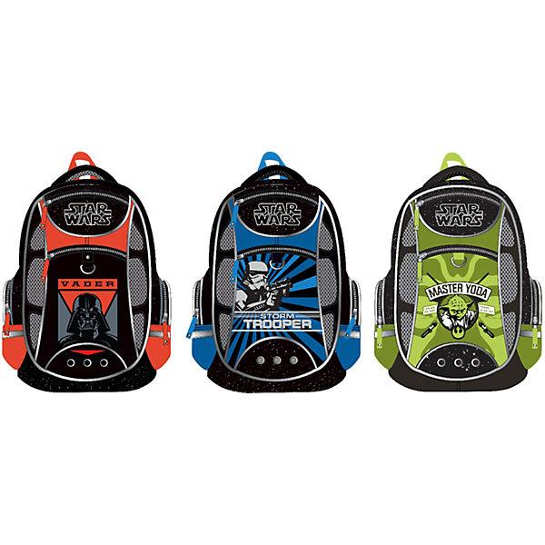 Рюкзак школьный Star Wars ErichKrause, в ассортиментеЗвездные войны Товары для школы<br>Школьный рюкзак, Star Wars – этот легкий вместительный рюкзак будет надежным спутником для вашего школьника.<br>У рюкзака Star Wars эргономичная конструкция спинки из подушечек с вентиляционными каналами, которая не только не дает ребенку сутулиться, но и обеспечивает идеальную вентиляцию для спины. Уплотненные S-образные лямки из вентилируемого сетчатого материала с системой регулирования для изменения положения рюкзака одним движением позволят снизить нагрузку на плечи. Рюкзак имеет 2 отделения, два фронтальных кармана на молниях, дополнительные боковые карманы, закрывающиеся на застежки-молнии. Дно укреплено пластиковыми ножками и внутренней откидывающейся жесткой вставкой. Имеется мягкая ручка и петля для подвешивания. Светоотражающие элементы, расположенные с 3х сторон изделия, обеспечивает большую безопасность в темноте.<br><br>Дополнительная информация:<br><br>- Размер: 44 x 31 x 16 см.<br>- Вес: 450 гр.<br>- Материал: полиэстер<br><br>Школьный рюкзак, Star Wars можно купить в нашем интернет-магазине.<br><br>Ширина мм: 280<br>Глубина мм: 140<br>Высота мм: 380<br>Вес г: 810<br>Возраст от месяцев: 72<br>Возраст до месяцев: 120<br>Пол: Мужской<br>Возраст: Детский<br>SKU: 4744494