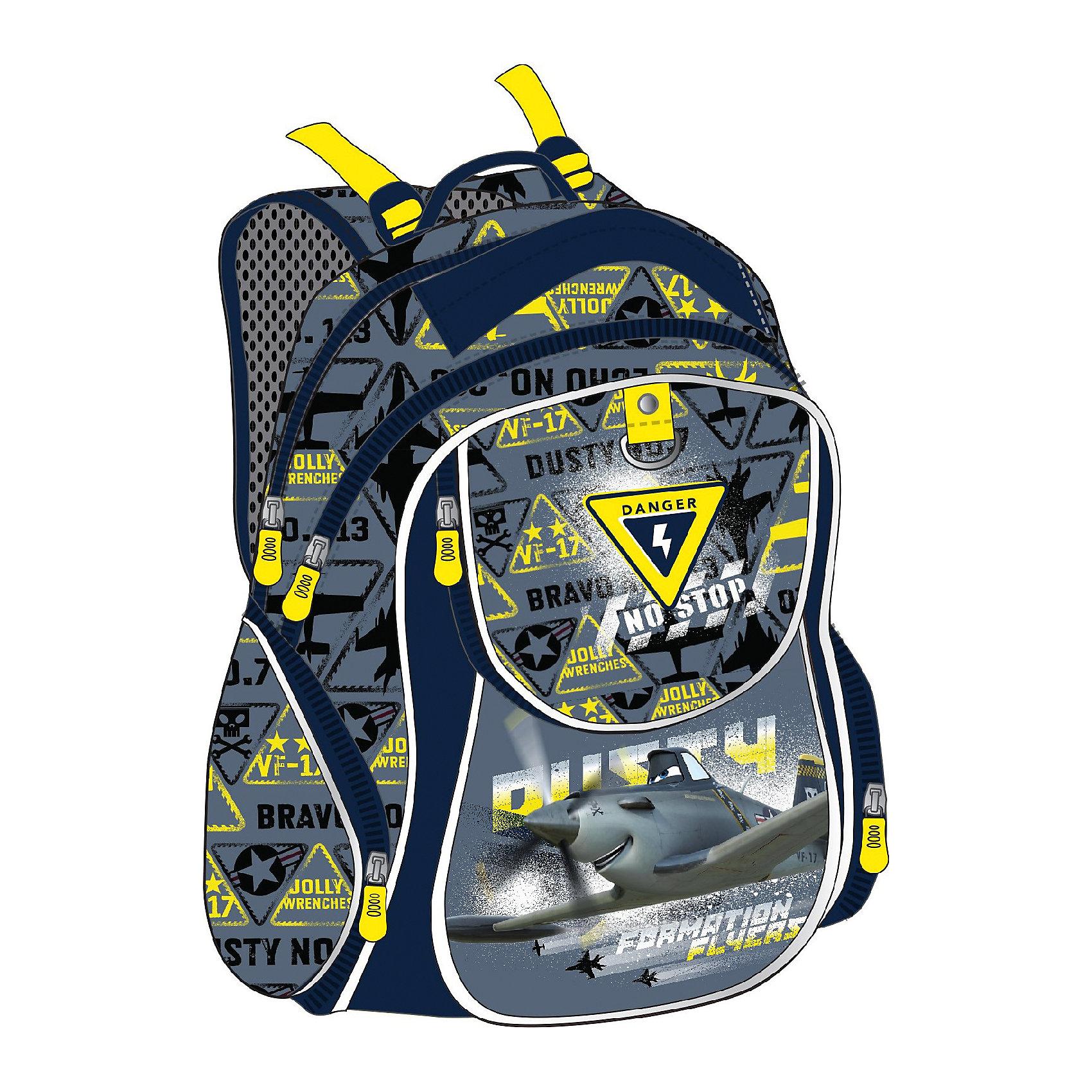 ErichKrause Рюкзак школьный СамолетыСамолеты<br>Школьный рюкзак, Самолеты – этот легкий вместительный рюкзак будет надежным спутником для вашего школьника.<br>У рюкзака Самолеты эргономичная конструкция спинки из подушечек с вентиляционными каналами, которая не только не дает ребенку сутулиться, но и обеспечивает идеальную вентиляцию для спины. Уплотненные S-образные лямки из вентилируемого сетчатого материала с системой регулирования для изменения положения рюкзака одним движением позволят снизить нагрузку на плечи. Рюкзак имеет 2 отделения, фронтальный карман на молнии, дополнительные боковые карманы, закрывающиеся на застежки-молнии. Во фронтальном кармане предусмотрен органайзер. Дно укреплено пластиковыми ножками и внутренней откидывающейся жесткой вставкой. Имеется мягкая ручка и петля для подвешивания. Светоотражающие элементы обеспечивают безопасность в темноте.<br><br>Дополнительная информация:<br><br>- Размер: 38 х 28 х 14 см.<br>- Вес: 450 гр.<br>- Материал: полиэстер<br><br>Школьный рюкзак, Самолеты можно купить в нашем интернет-магазине.<br><br>Ширина мм: 280<br>Глубина мм: 140<br>Высота мм: 380<br>Вес г: 830<br>Возраст от месяцев: 84<br>Возраст до месяцев: 120<br>Пол: Мужской<br>Возраст: Детский<br>SKU: 4744495