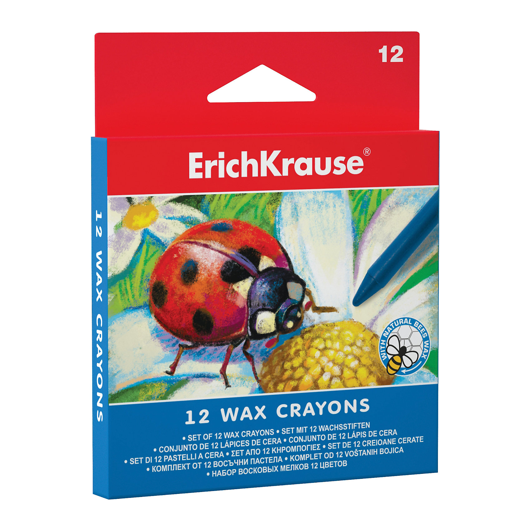 Восковые мелки, 12 цв., ErichKrauseВосковые мелки, 12 цв., ErichKrause (Эрих Краузе) - это настоящая находка для юного художника.<br>Восковые мелки от торговой марки Erich Krause (Эрих Краузе) изготовлены из пчелиного воска с добавлением натуральных красителей и абсолютно безопасны для здоровья малыша. Картонная коробка содержит 12 мелков ярких насыщенных цветов, которые позволят ребенку создать красочные шедевры. Мелки мягко ложатся, оставляют яркие, четкие линии, обеспечивают равномерное закрашивание. Каждый мелок в бумажной обертке. Восковые мелки подарят вашему ребенку множество часов творчества и хорошее настроение!<br><br>Дополнительная информация:<br><br>- Количество: 12 шт.<br>- Материал: полимерный воск<br>- Диаметр мелка: 0,7 см.<br>- Длина мелка: 9 см.<br>- Упаковка: картонная коробка с европодвесом<br>- Размер упаковки: 1 ? 12 ? 10 см.<br><br>Восковые мелки, 12 цв., ErichKrause (Эрих Краузе) можно купить в нашем интернет-магазине.<br><br>Ширина мм: 98<br>Глубина мм: 11<br>Высота мм: 121<br>Вес г: 70<br>Возраст от месяцев: 36<br>Возраст до месяцев: 204<br>Пол: Унисекс<br>Возраст: Детский<br>SKU: 4744503