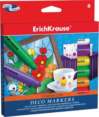 Фломастеры для декора, 8 цв., Erich Krause
