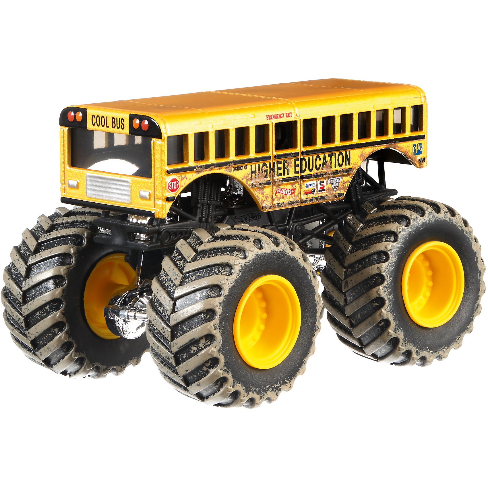 Машинка 1:64,  Monster Jam, Hot WheelsПопулярные игрушки<br>Машинки 1:64,  Monster jam, Hot Wheels (Хот Вилс) – эти машинки обязательно понравятся вашему ребенку. Monster Jam – это линейка популярных машинок Hot Wheels, которые без сомнения известны каждому мальчишке. Самые быстрые, самые яркие машинки, богатый ассортимент которых включает как копии настоящих авто, так и вымышленные автомобили. Перед вами копия трюковых внедорожников в масштабе 1:64. Большие колеса этих машинок способны с легкостью преодолевать препятствия, что делает их желанной игрушкой для юного гонщика. Литой корпус, хромированные диски. Автомобиль с неповторимым тюнингом оценят как дети, так и взрослые.  Дополнительная информация:  - В наборе: 1 машинка - Вес игрушки: 0,2 кг. - Размер упаковки: 17,5х14х6,5 см.  Машинку 1:64,  Monster jam, Hot Wheels (Хот Вилс), можно купить в нашем интернет-магазине.<br><br>Ширина мм: 65<br>Глубина мм: 140<br>Высота мм: 175<br>Вес г: 130<br>Возраст от месяцев: 36<br>Возраст до месяцев: 84<br>Пол: Мужской<br>Возраст: Детский<br>SKU: 4744557