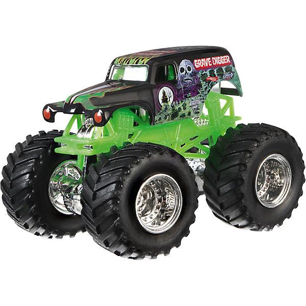 Машинка 1:64,  Monster Jam, Hot WheelsМашинки<br>Машинки 1:64,  Monster jam, Hot Wheels (Хот Вилс) – эти машинки обязательно понравятся вашему ребенку. Monster Jam – это линейка популярных машинок Hot Wheels, которые без сомнения известны каждому мальчишке. Самые быстрые, самые яркие машинки, богатый ассортимент которых включает как копии настоящих авто, так и вымышленные автомобили. Перед вами копия трюковых внедорожников в масштабе 1:64. Большие колеса этих машинок способны с легкостью преодолевать препятствия, что делает их желанной игрушкой для юного гонщика. Литой корпус, хромированные диски. Автомобиль с неповторимым тюнингом оценят как дети, так и взрослые.  Дополнительная информация:  - В наборе: 1 машинка - Вес игрушки: 0,2 кг. - Размер упаковки: 17,5х14х6,5 см.  Машинку 1:64,  Monster jam, Hot Wheels (Хот Вилс), можно купить в нашем интернет-магазине.<br><br>Ширина мм: 65<br>Глубина мм: 140<br>Высота мм: 175<br>Вес г: 130<br>Возраст от месяцев: 36<br>Возраст до месяцев: 84<br>Пол: Мужской<br>Возраст: Детский<br>SKU: 4744559