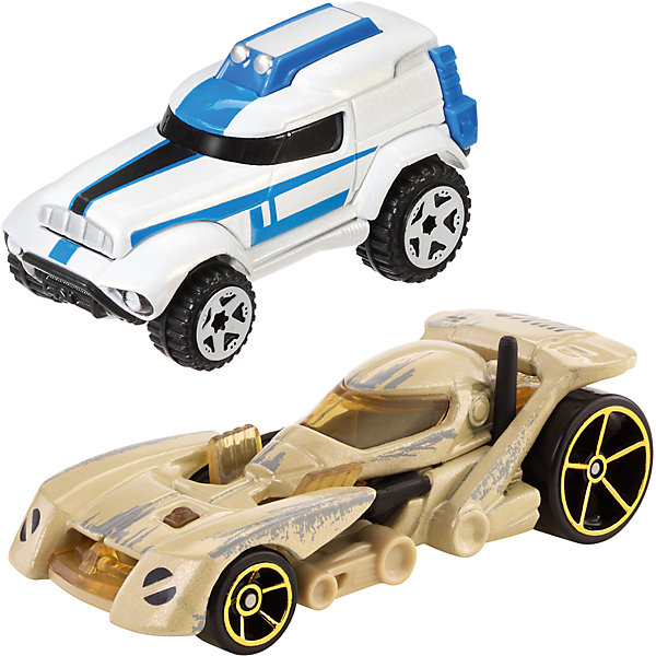 Набор из 2-х машинок Звездные войны, Hot WheelsПопулярные игрушки<br>Базовые машинки Star Wars, Hot Wheels (Хот Вилс) – этот набор порадует юного автолюбителя и поклонника межгалактических приключений. В этом наборе от Хот Вилс любимые миллионами персонажи «Звездных войн» робот C-3PO и астродроид R2D2 предстают в виде машинок. Несмотря на то, что их внешний вид в фильмах нисколько не походил на машины, каждый персонаж прекрасно узнаваем по цветам и характерным деталям, которые перешли от героев в дизайн автомобилей. Машинки понравятся поклонникам всех возрастов: соберите полную коллекцию и устраивайте гонки по всей галактике!  <br><br>Дополнительная информация:  <br>- В комплекте: 2 машины <br>- Масштаб: 1:64 <br>- Материал: пластик, металл <br>- Упаковка: блистер на картоне <br>- Размер упаковки: 20,3 x 6,4 x 16,5 см.  <br><br>Базовые машинки Star Wars, Hot Wheels (Хот Вилс) можно купить в нашем интернет-магазине.<br>Ширина мм: 201; Глубина мм: 164; Высота мм: 67; Вес г: 130; Возраст от месяцев: 36; Возраст до месяцев: 72; Пол: Мужской; Возраст: Детский; SKU: 4744613;