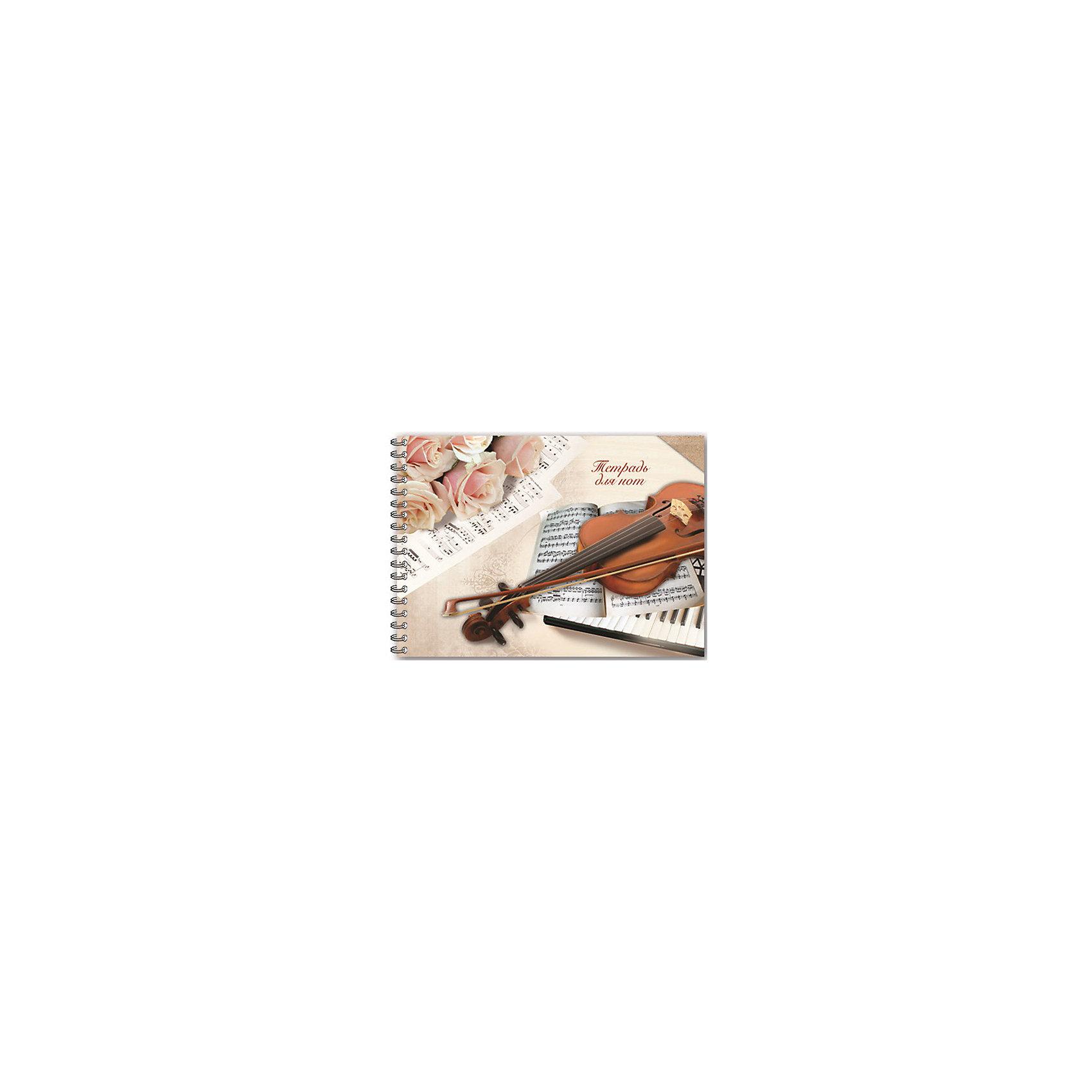 Тетрадь для нот Скрипка и ноты, 48 л., А4Занятия ребенка музыкой всегда требуют приобретения специализированных атрибутов. Так пусть они будут стильными и качественными! Ведь с ними работать - намного приятней.<br>Тетрадь для нот Скрипка и ноты - большого удобного формата А4, в ней - 48 л. Обложка - из плотного картона с красивым рисунком. Листы скреплены спиралью, а значит, каждый из них можно вырвать, не портя внешний вид тетради. Изделие произведено из качественных и безопасных для ребенка материалов.<br><br>Дополнительная информация:<br><br>цвет: разноцветный;<br>формат: А4;<br>48 листов;<br>обложка: картон;<br>крепление: пружина.<br><br>Тетрадь для нот Скрипка и ноты, 48 л., А4 можно купить в нашем магазине.<br><br>Ширина мм: 300<br>Глубина мм: 210<br>Высота мм: 5<br>Вес г: 235<br>Возраст от месяцев: 48<br>Возраст до месяцев: 2147483647<br>Пол: Унисекс<br>Возраст: Детский<br>SKU: 4746176