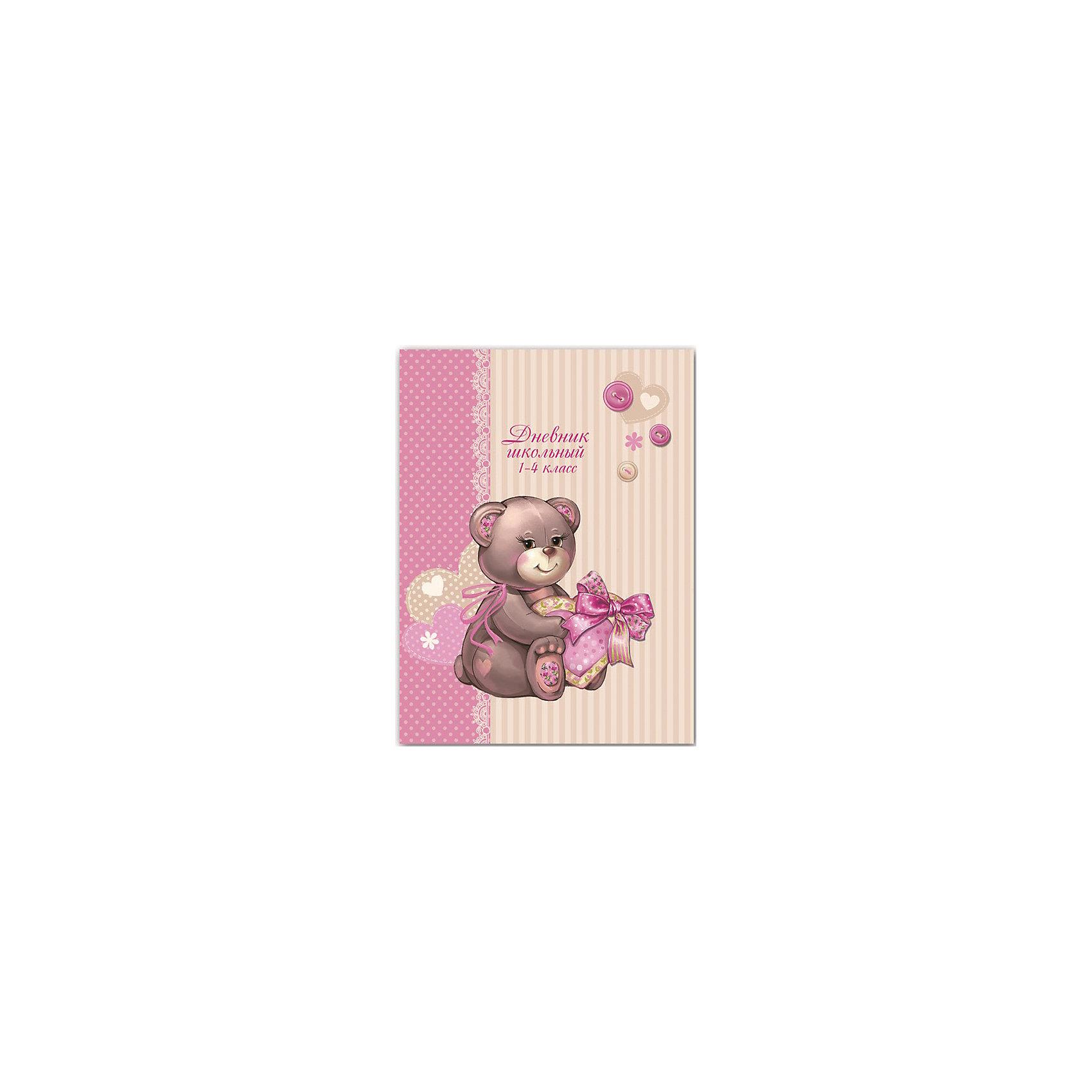 Дневник Медвежонок с сердцем, 1-4 классДневник нужен каждому школьнику. Занятия ребенка в школе всегда требуют приобретения атрибутов для учебы. Так пусть они будут стильными и качественными! Ведь учиться с ними - намного приятней.<br>Школьный дневник Медвежонок с сердцем - стандартного формата А5. Обложка - из плотной бумаги с изображением симпатичного медвежонка. Листы надежно скреплены. Этот дневник предназначен для учеников начальной школы. Изделие произведено из качественных и безопасных для ребенка материалов.<br><br>Дополнительная информация:<br><br>цвет: разноцветный;<br>формат: А5;<br>материал: бумага.<br><br>Дневник Медвежонок с сердцем, 1-4 класс можно купить в нашем магазине.<br><br>Ширина мм: 220<br>Глубина мм: 170<br>Высота мм: 10<br>Вес г: 225<br>Возраст от месяцев: 72<br>Возраст до месяцев: 120<br>Пол: Женский<br>Возраст: Детский<br>SKU: 4746192