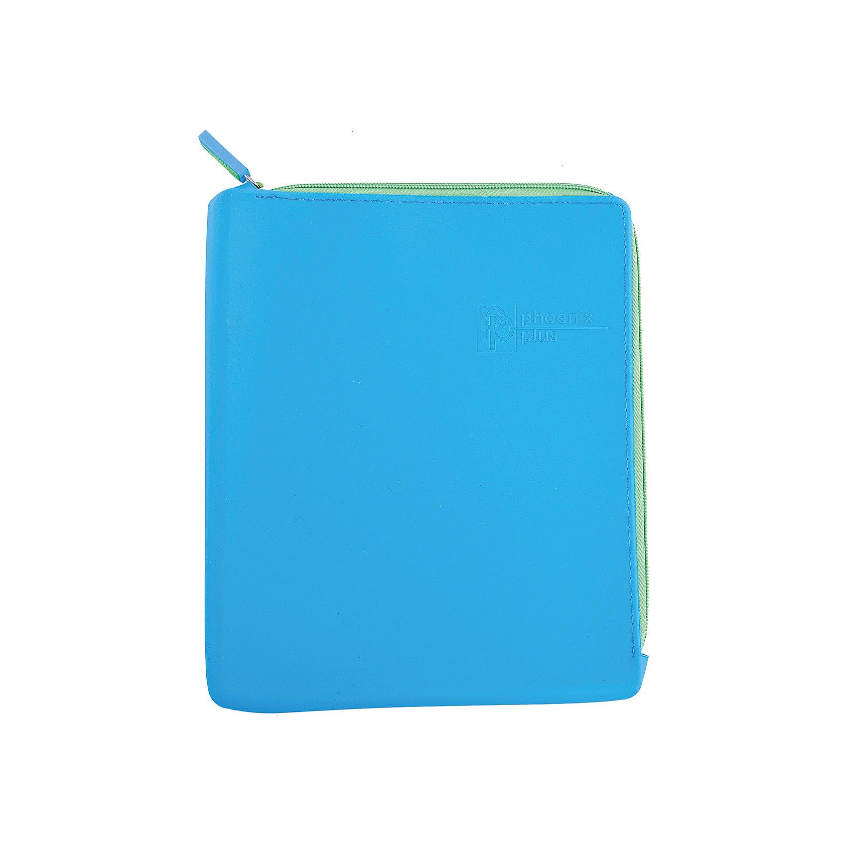 Феникс+ Папка для тетрадей, А5, синяя папка с приж пласт proff next а4 0 60мм с торц и внутр карм синяя