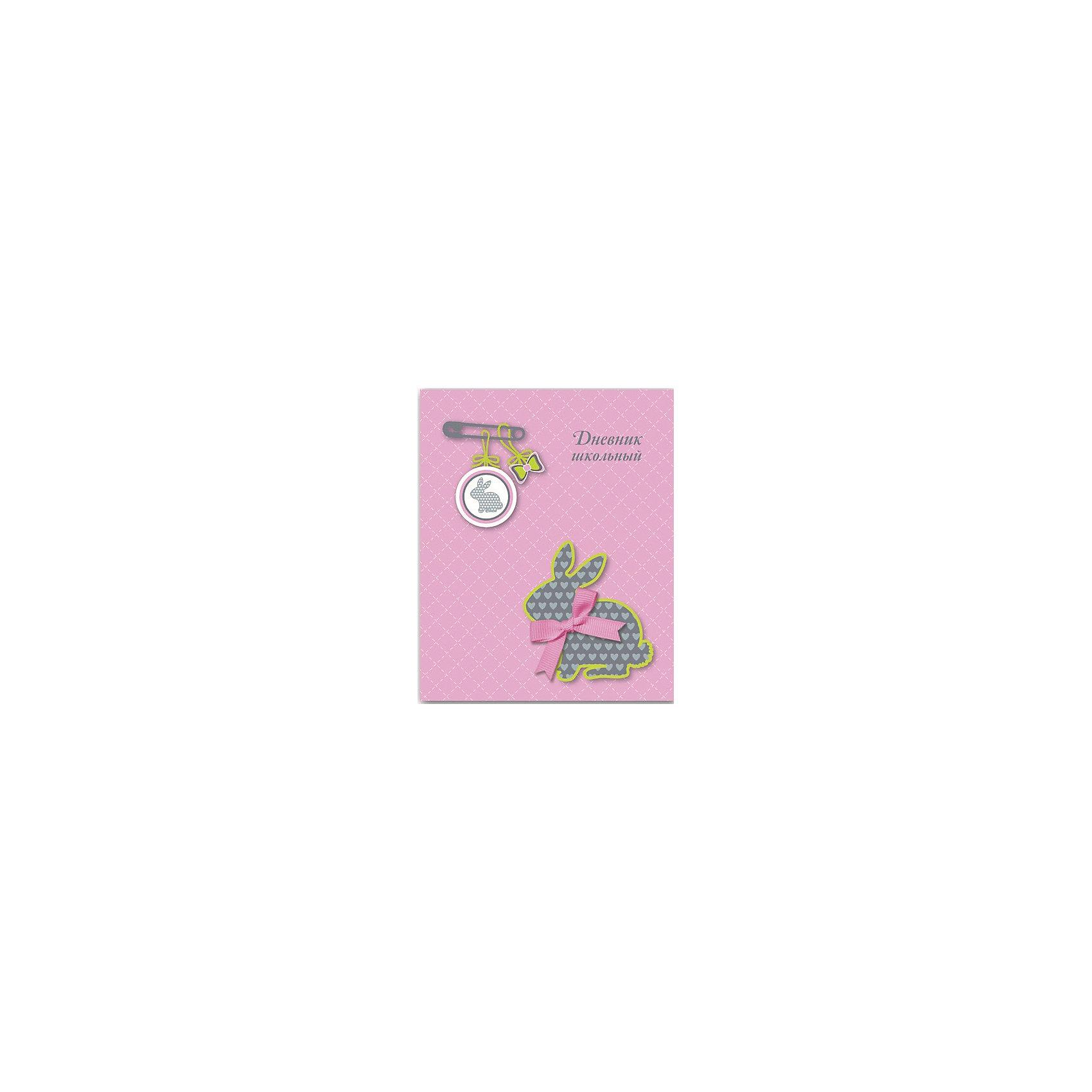 Дневник Кролик с бантомБумажная продукция<br>Одна из важнейших школьных принадлежностей - дневник. Он нужен каждому школьнику. Занятия ребенка в школе всегда требуют приобретения атрибутов для учебы. Так пусть они будут стильными и качественными! Ведь учиться с ними - намного приятней.<br>Школьный дневник Кролик с бантом - стандартного формата А5. Обложка - из плотной бумаги с изображением кролика. Листы надежно скреплены. Изделие произведено из качественных и безопасных для ребенка материалов.<br><br>Дополнительная информация:<br><br>цвет: разноцветный;<br>формат: А5;<br>материал: бумага.<br><br>Дневник Кролик с бантом можно купить в нашем магазине.<br><br>Ширина мм: 220<br>Глубина мм: 170<br>Высота мм: 10<br>Вес г: 250<br>Возраст от месяцев: 72<br>Возраст до месяцев: 192<br>Пол: Женский<br>Возраст: Детский<br>SKU: 4746254
