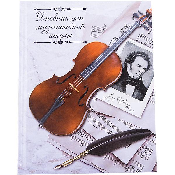 Дневник для музыкальной школы Скрипка и перо, А5Бумажная продукция<br>Занятия ребенка музыкой всегда требуют приобретения специализированных атрибутов. Так пусть они будут стильными и качественными! Ведь с ними учиться - намного приятней.<br>Дневник для музыкальной школы Скрипка и перо - стандартного формата А5, в нем - 48 л. Обложка - из плотного картона с красивым рисунком. Листы скреплены книжным креплением, это очень удобно и прочно. Дневник содержит полезный информационный блок. Изделие произведено из качественных и безопасных для ребенка материалов.<br><br>Дополнительная информация:<br><br>цвет: разноцветный;<br>формат: А5;<br>48 листов;<br>обложка: картон;<br>крепление: книжной;<br>есть информационный блок.<br><br>Дневник для музыкальной школы Скрипка и перо, А5 можно купить в нашем магазине.<br><br>Ширина мм: 215<br>Глубина мм: 170<br>Высота мм: 10<br>Вес г: 225<br>Возраст от месяцев: 36<br>Возраст до месяцев: 2147483647<br>Пол: Унисекс<br>Возраст: Детский<br>SKU: 4746268