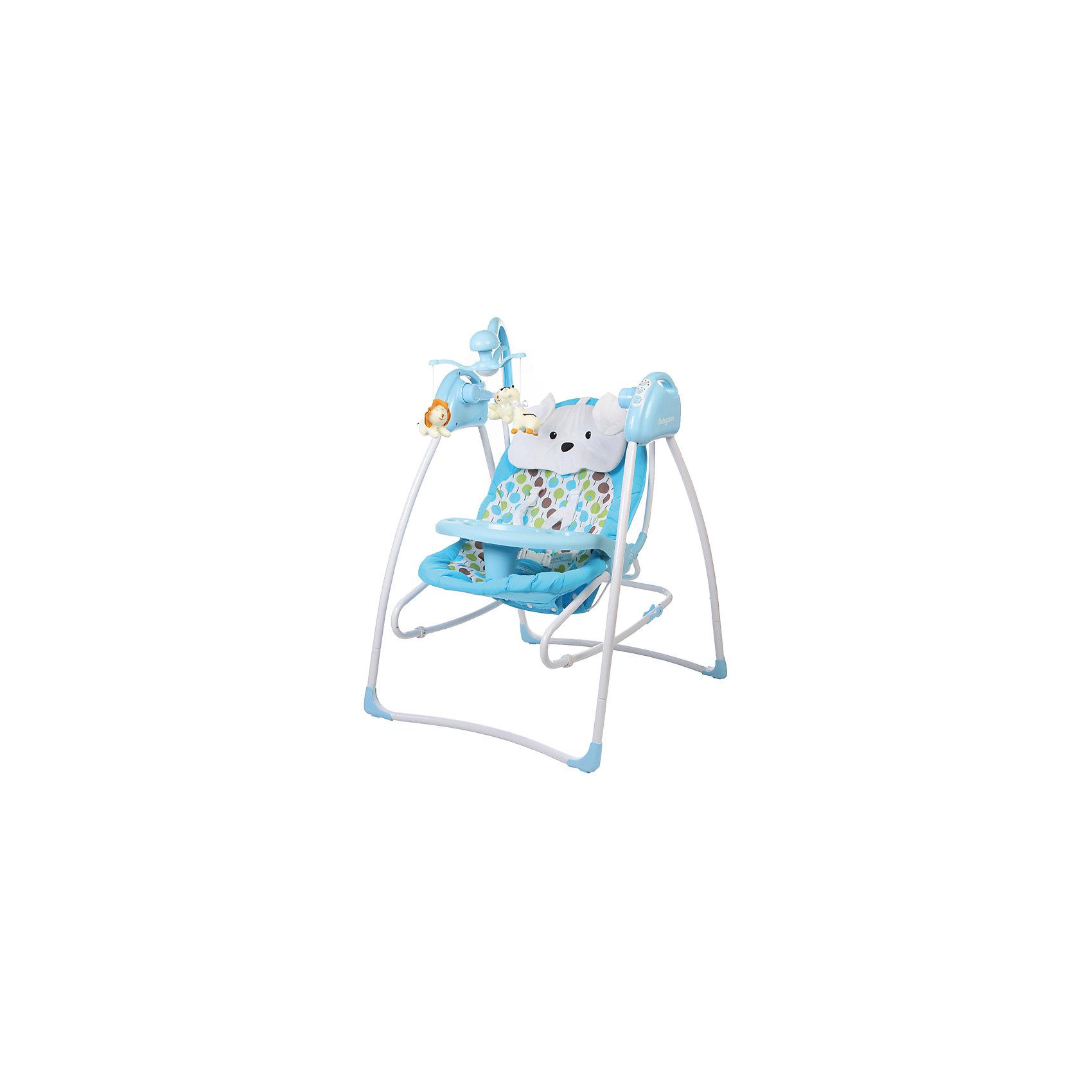 Электрокачели Butterfly 2 в 1 с адаптером, Baby Care, синийНовые яркие электрокачели Baby Care Butterfly 2 в 1 помогут молодым родителям в первые месяцы жизни ребенка. Качели компактные и мобильные, понравятся тем, кто не сидит на месте.<br>Уникальная конструкция качелей позволяет снять сиденье со стоек - таким образом качели легко и быстро превращаются в шезлонг для новорожденного! <br>Ваш малыш будет рад такой новинке!<br><br>Особенности:<br>Рекомендовано для детей c рождения до 6 месяцев (весом до 15 кг).<br>- 3 положения спинки;<br>- 5-точеные ремни безопасности;<br>- 5 скоростей укачивания;<br>- 12 мелодий;<br>- Регулировка громкости;<br>- Таймер;<br>- Дуга с игрушками;<br>- Сиденье снимается и становится рокером (шезлонгом) для модели 2 в 1;<br>- Обивку сидения можно стирать в холодной воде;<br>- Сетевой адаптер в комплекте.<br> <br> Размеры в разложенном виде - 78х69х101 см.<br> Размеры в сложенном виде - 69х69х106 см (2в1) <br> Расстояние от пола до сидения - 38 см.<br> Размеры сидения - 80х45 см.<br> Вес –  8.2 кг(2в1).<br><br>Дополнительная информация: <br><br>- Размер упаковки: 73х51х29 см.<br>- Вес в упаковке: 8700 кг.<br><br>Электрокачели Butterfly 2 в 1 с адаптером можно купить в нашем магазине.<br><br>Ширина мм: 730<br>Глубина мм: 510<br>Высота мм: 290<br>Вес г: 8700<br>Возраст от месяцев: 2<br>Возраст до месяцев: 6<br>Пол: Унисекс<br>Возраст: Детский<br>SKU: 4746885