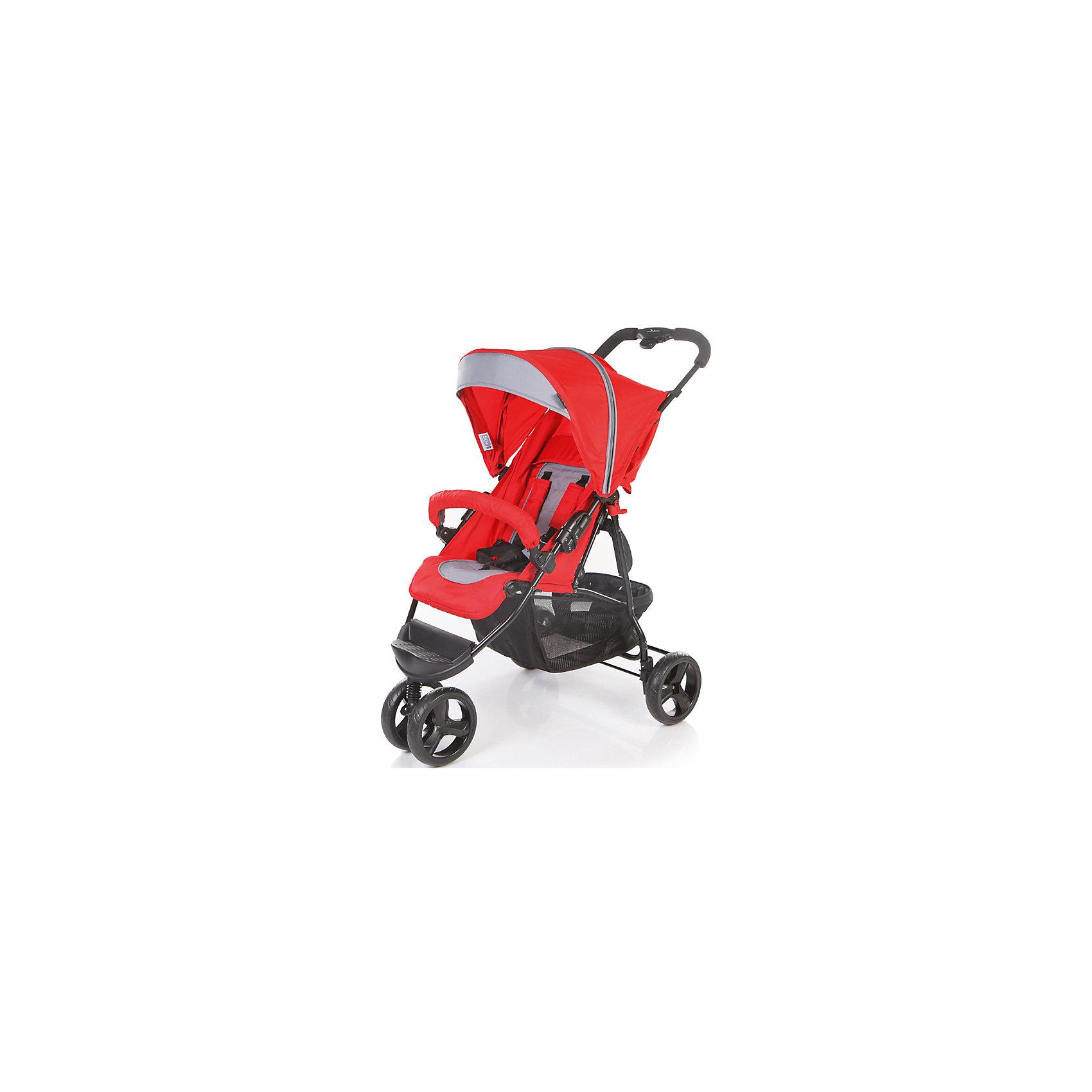 Прогулочная коляска Jetem Mira Lite, красный/тёмно-серый Red/Dark GreyПрогулочные коляски<br>Mira Lite- это трехколесная прогулочная коляска. Обладает 5-ти точечными ремнями безопасности, съемным бампером с мягкой обивкой и регулируемой подножкой. <br>Коляска очень легко и компактно складывается и имеет 5 уровней наклона спинки. В комплект входит чехол на ножки.<br><br>Особенности:<br>- Металлическая рама;<br>- 5-ти точечные ремни безопасности;<br>- Съемный бампер с мягкой обивкой, <br>- Компактное складывание;<br>- 5 уровней наклона спинки;<br>- Ножная тормозная система;<br>- Регулируемая подножка;<br>- Амортизация задних колёс.<br>- В комплект входит чехол на ноги.<br>- Механизм складывания: книжка.<br>Диаметр колес: <br>- Передние – 20.3 см;<br>- Задние — 20.3 см. <br>Тип колес: передние-двойные, задние-одинарные.<br> Размер корзины: 52х31х20 см.·       <br> Размер в разложенном виде: 91х59х115 см.·  <br> Размер в сложенном виде: 86х59х31 см.<br><br>Дополнительная информация:<br><br>- Размер упаковки: 79х47х16 см.<br>- Вес в упаковке: 9 кг.<br><br>Прогулочную коляску Mira Lite можно купить в нашем магазине.<br><br>Ширина мм: 790<br>Глубина мм: 470<br>Высота мм: 160<br>Вес г: 9000<br>Возраст от месяцев: 6<br>Возраст до месяцев: 36<br>Пол: Унисекс<br>Возраст: Детский<br>SKU: 4746893