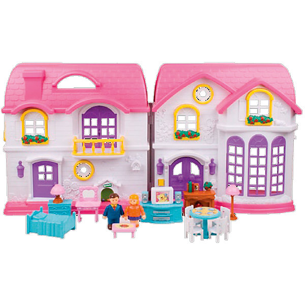 Дом для куклы, Red BoxДомики для кукол<br>Дом для куклы, Red Box (Ред Бокс) – яркий привлекательный коттедж со звуковыми и световыми эффектами и множеством аксессуаров для игры.<br>Игровой набор «Дом для куклы» от Red Box (Ред Бокс) – это большой двухэтажный особняк с мансаодой для дружной семьи! В нем живет супружеская пара – две фигурки, которые находятся в комплекте. Дом раскрывается подобно книге, что позволяет в разложенном виде расположить фигурки и расставить мебель. Обустроить дом можно очень уютно, ведь в набор входит множество деталей интерьера. Для спальни - кровать и туалетный столик с зеркалом. Для гостиной – стулья и тумба с телевизором. Ваша малышка будет очень увлечена различными возможными комбинациями. Ведь мебель можно переставлять по своему вкусу и усмотрению. Дом богат не только своим наполнением, но и сочными цветами, подсветкой и звуковым эффектом. При нажатии на звонок у входа, раздается соответствующий звук, и загораются фонари. С набором Дом для куклы можно инсценировать жизнь целой игрушечной семьи. Сюжетно-ролевая игра помогает развить речь, моторику и координацию движений, логику, внимание и воображение, а так же способствует социальной адаптации ребенка.<br><br>Дополнительная информация:<br><br>- В наборе: фигурки мамы и папы, телевизор с тумбой, стол, 4 стула, кровать двухспальная, туалетный столик с зеркалом, комод, камин, журнальный столик, бра<br>- Размер дома: 72х11х36 см.<br>- Батарейки: 2 шт. типа АА (в комплект входят)<br>- Материал: пластик<br>- Упаковка: картонная коробка<br><br>Дом для куклы, Red Box (Ред Бокс) можно купить в нашем интернет-магазине.<br><br>Ширина мм: 700<br>Глубина мм: 110<br>Высота мм: 500<br>Вес г: 3200<br>Возраст от месяцев: 36<br>Возраст до месяцев: 96<br>Пол: Женский<br>Возраст: Детский<br>SKU: 4747483