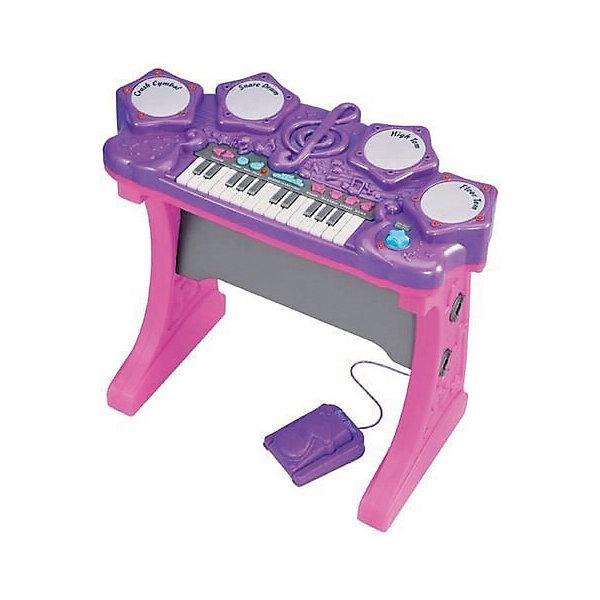 Синтезатор электронный, Red BoxСинтезаторы<br>Синтезатор электронный, Red Box (Ред Бокс) - приведет в восторг маленького музыканта.<br>Электронный синтезатор от торговой марки Red Box (Ред Бокс) очарует маленьких любителей музыки приятными мелодичными звуками. Нажимая на всевозможные кнопки, ребенок услышит разнообразные мелодии, звуки, ритмы, ноты. Он может изучать ноты, придумывать свои мелодии или накладывать музыку на уже готовые мелодии. Синтезатор может проигрывать 15 мелодий, записывать и воспроизводить мелодии, имеет 4 клавиши ударника, комплектуется барабанными палочками для ударных и педалью. Громкость можно отрегулировать по своему усмотрению. Синтезатор оснащен световыми эффектами. Игрушка сделана из пластика высокого качества и раскрашена в яркие цвета. Такой музыкальный инструмент развивает у ребенка чувство ритма, слух, координацию и творческое мышление.<br><br>Дополнительная информация:<br><br>- В комплекте: синтезатор; педаль ударника; 2 барабанные палочки<br>- 20 различных звуков от барабана или педали<br>- 3 демонстрационные песни<br>- 15 различных ритмов при нажатии белых клавиш<br>- 4 клавиши ударника (Crash Cymbal, Snare Drum, High Tom, Floor Tom)<br>- Игра сопровождается световыми эффектами<br>- Громкость звучания можно регулировать<br>- Материал: пластик<br>- Батарейки: 4 шт. типа СR14 1,5 V (в комплект не входят)<br>- Размер синтезатора: 58х29х53 см.<br>- Размер упаковки: 63х10х51 см.<br><br>Синтезатор электронный, Red Box (Ред Бокс) можно купить в нашем интернет-магазине.<br>Ширина мм: 600; Глубина мм: 100; Высота мм: 500; Вес г: 3700; Возраст от месяцев: 36; Возраст до месяцев: 120; Пол: Унисекс; Возраст: Детский; SKU: 4747484;