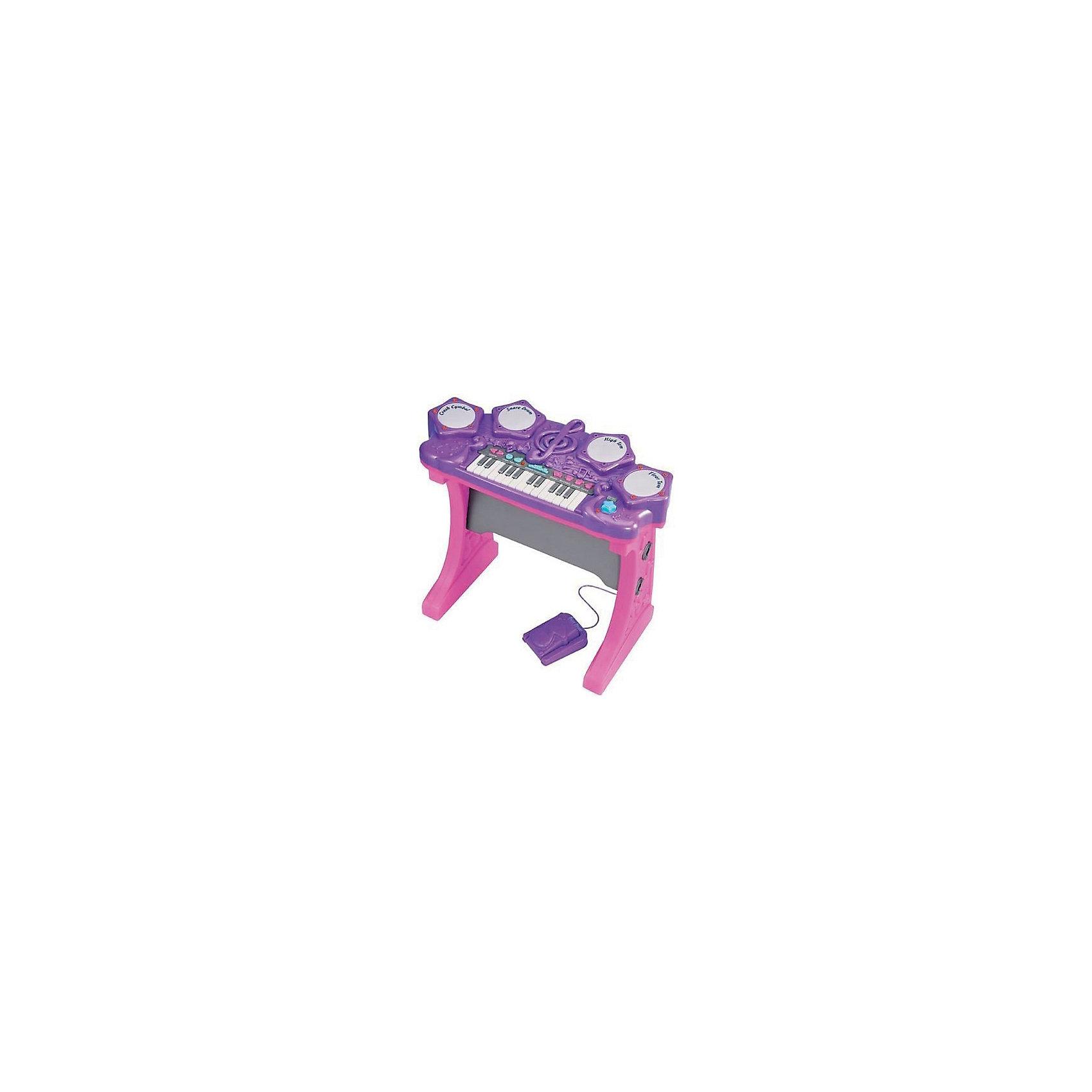 Синтезатор электронный, Red BoxСинтезатор электронный, Red Box (Ред Бокс) - приведет в восторг маленького музыканта.<br>Электронный синтезатор от торговой марки Red Box (Ред Бокс) очарует маленьких любителей музыки приятными мелодичными звуками. Нажимая на всевозможные кнопки, ребенок услышит разнообразные мелодии, звуки, ритмы, ноты. Он может изучать ноты, придумывать свои мелодии или накладывать музыку на уже готовые мелодии. Синтезатор может проигрывать 15 мелодий, записывать и воспроизводить мелодии, имеет 4 клавиши ударника, комплектуется барабанными палочками для ударных и педалью. Громкость можно отрегулировать по своему усмотрению. Синтезатор оснащен световыми эффектами. Игрушка сделана из пластика высокого качества и раскрашена в яркие цвета. Такой музыкальный инструмент развивает у ребенка чувство ритма, слух, координацию и творческое мышление.<br><br>Дополнительная информация:<br><br>- В комплекте: синтезатор; педаль ударника; 2 барабанные палочки<br>- 20 различных звуков от барабана или педали<br>- 3 демонстрационные песни<br>- 15 различных ритмов при нажатии белых клавиш<br>- 4 клавиши ударника (Crash Cymbal, Snare Drum, High Tom, Floor Tom)<br>- Игра сопровождается световыми эффектами<br>- Громкость звучания можно регулировать<br>- Материал: пластик<br>- Батарейки: 4 шт. типа СR14 1,5 V (в комплект не входят)<br>- Размер синтезатора: 58х29х53 см.<br>- Размер упаковки: 63х10х51 см.<br><br>Синтезатор электронный, Red Box (Ред Бокс) можно купить в нашем интернет-магазине.<br><br>Ширина мм: 600<br>Глубина мм: 100<br>Высота мм: 500<br>Вес г: 3700<br>Возраст от месяцев: 36<br>Возраст до месяцев: 120<br>Пол: Унисекс<br>Возраст: Детский<br>SKU: 4747484