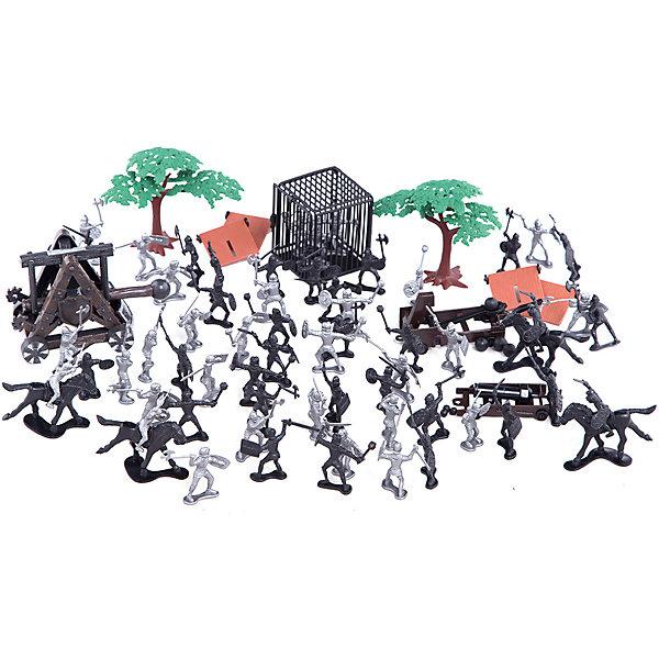 Рыцарский набор, Toy MajorСолдатики, люди и рыцари<br>Рыцарский набор, Toy Major – этот игровой набор обязательно увлечет вашего ребенка.<br>Рыцарский набор обязательно понравится любому мальчику, который любит истории о средневековых турнирах и отважных воинах. В наборе две рыцарских армии. Рыцари вооружены мечами, булавами, топорами, а также специальным оборудованием для длительной осады. Некоторые рыцари - на лошадях. Храбрые войны в случае нападения врага могут укрыться за деревьями или щитами. А когда враг будет взят в плен, его можно бросить в клетку. С набором можно придумать множество историй, которые увлекут вашего мальчика во времена средневековья. Все детали набора хорошо проработаны и максимально натуралистичны. Изготовлено из высококачественного пластика.<br><br>Дополнительная информация:<br><br>- В наборе: 2 отряда рыцарей, аксессуары для игры<br>- Количество элементов: 82<br>- Высота рыцаря: 5 см.<br>- Материал: пластик<br>- Упаковка: пластиковый контейнер<br>- Размер упаковки: 17,5х17,5х22,9 см.<br><br>Рыцарский набор, Toy Major можно купить в нашем интернет-магазине.<br><br>Ширина мм: 220<br>Глубина мм: 170<br>Высота мм: 170<br>Вес г: 1100<br>Возраст от месяцев: 36<br>Возраст до месяцев: 96<br>Пол: Мужской<br>Возраст: Детский<br>SKU: 4747486