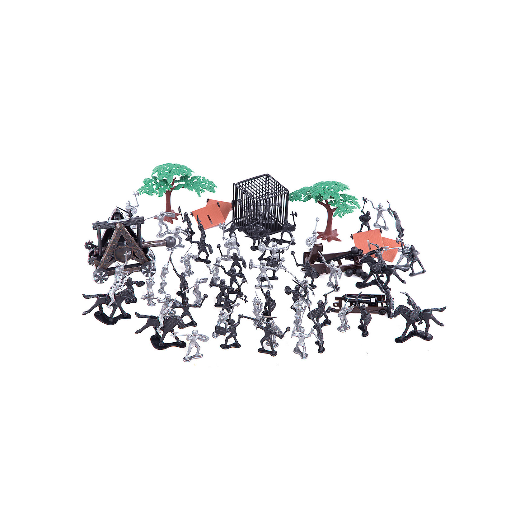 Рыцарский набор, Toy MajorРыцарский набор, Toy Major – этот игровой набор обязательно увлечет вашего ребенка.<br>Рыцарский набор обязательно понравится любому мальчику, который любит истории о средневековых турнирах и отважных воинах. В наборе две рыцарских армии. Рыцари вооружены мечами, булавами, топорами, а также специальным оборудованием для длительной осады. Некоторые рыцари - на лошадях. Храбрые войны в случае нападения врага могут укрыться за деревьями или щитами. А когда враг будет взят в плен, его можно бросить в клетку. С набором можно придумать множество историй, которые увлекут вашего мальчика во времена средневековья. Все детали набора хорошо проработаны и максимально натуралистичны. Изготовлено из высококачественного пластика.<br><br>Дополнительная информация:<br><br>- В наборе: 2 отряда рыцарей, аксессуары для игры<br>- Количество элементов: 82<br>- Высота рыцаря: 5 см.<br>- Материал: пластик<br>- Упаковка: пластиковый контейнер<br>- Размер упаковки: 17,5х17,5х22,9 см.<br><br>Рыцарский набор, Toy Major можно купить в нашем интернет-магазине.<br><br>Ширина мм: 220<br>Глубина мм: 170<br>Высота мм: 170<br>Вес г: 1100<br>Возраст от месяцев: 36<br>Возраст до месяцев: 96<br>Пол: Мужской<br>Возраст: Детский<br>SKU: 4747486