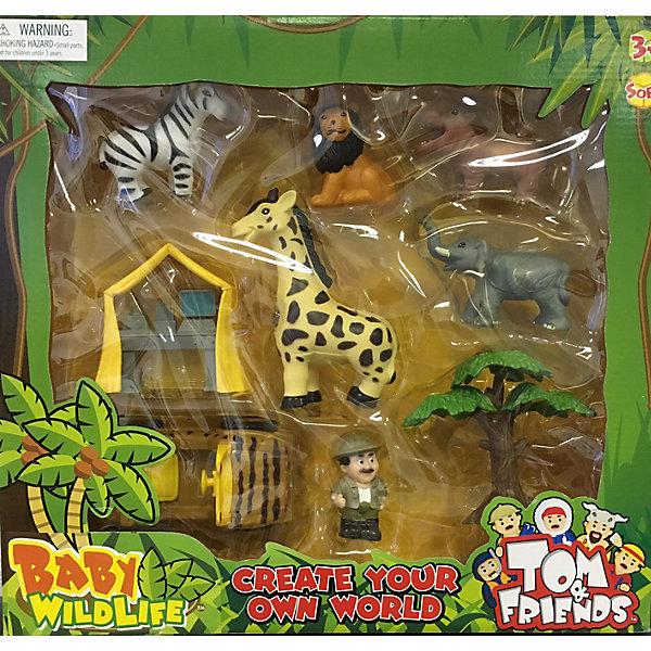 Набор Домашние животные, Toy MajorИгровые наборы с фигурками<br>Набор Домашние животные, Toy Major – этот игровой набор обязательно увлечет вашего ребенка.<br>Набор Домашние животные – это маленькие фигурки животных Африки и детали их среды обитания в стиле «сафари», выполненные из мягкой пластмассы. Фигурки компактные, без подвижных деталей и безопасны для малыша.<br><br>Дополнительная информация:<br><br>- В наборе: машинка, палатка, дерево, человечек, зебра, лев, бегемот, жираф, слон<br>- Материал: мягкий полимер<br>- Размер упаковки: 42х39х10 см.<br><br>Набор Домашние животные, Toy Major можно купить в нашем интернет-магазине.<br><br>Ширина мм: 400<br>Глубина мм: 100<br>Высота мм: 380<br>Вес г: 900<br>Возраст от месяцев: 36<br>Возраст до месяцев: 96<br>Пол: Унисекс<br>Возраст: Детский<br>SKU: 4747487