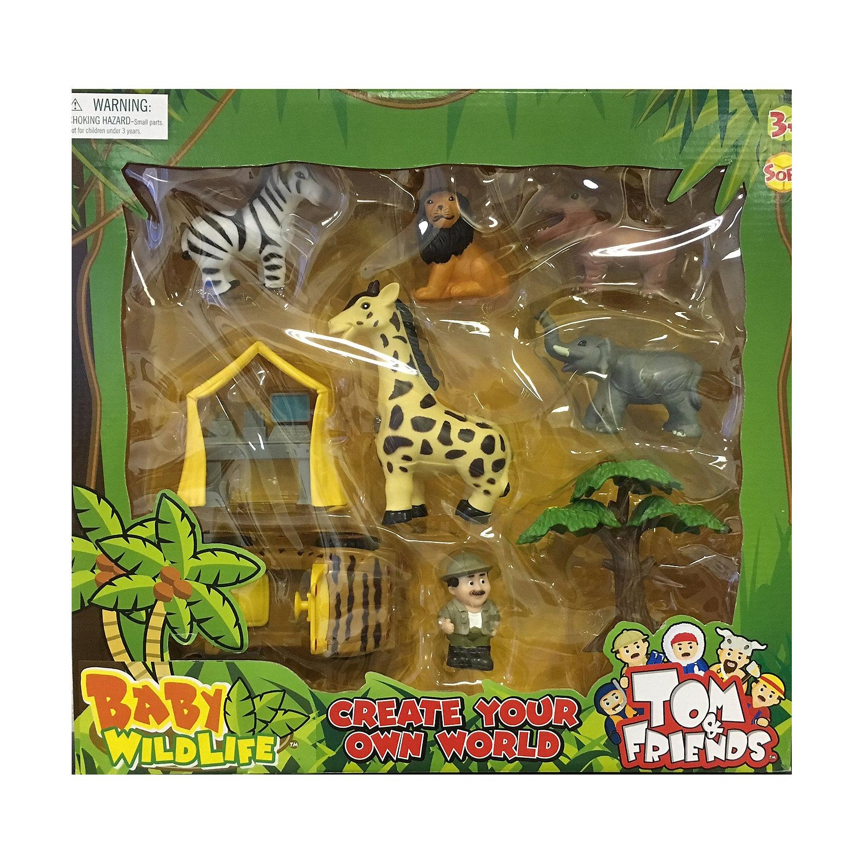 Набор Домашние животные, Toy MajorИгровые наборы фигурок<br>Набор Домашние животные, Toy Major – этот игровой набор обязательно увлечет вашего ребенка.<br>Набор Домашние животные – это маленькие фигурки животных Африки и детали их среды обитания в стиле «сафари», выполненные из мягкой пластмассы. Фигурки компактные, без подвижных деталей и безопасны для малыша.<br><br>Дополнительная информация:<br><br>- В наборе: машинка, палатка, дерево, человечек, зебра, лев, бегемот, жираф, слон<br>- Материал: мягкий полимер<br>- Размер упаковки: 42х39х10 см.<br><br>Набор Домашние животные, Toy Major можно купить в нашем интернет-магазине.<br><br>Ширина мм: 400<br>Глубина мм: 100<br>Высота мм: 380<br>Вес г: 900<br>Возраст от месяцев: 36<br>Возраст до месяцев: 96<br>Пол: Унисекс<br>Возраст: Детский<br>SKU: 4747487