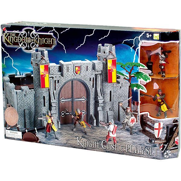 Набор Рыцарский замок, Toy MajorСолдатики, люди и рыцари<br>Набор Рыцарский замок, Toy Major – этот игровой набор обязательно увлечет вашего ребенка.<br>Набор Рыцарский замок обязательно понравится любому мальчику, который любит истории о средневековых турнирах и отважных воинах. У замка есть открывающиеся ворота и две башни. Стены замка изготовлены из толстого пластика - создается впечатление, что это натуральный кирпич! Рыцари вооружены, а также у них есть специальное оборудование для осады замка. С набором можно придумать множество историй, которые увлекут вашего мальчика во времена средневековья. Все детали набора хорошо проработаны и максимально натуралистичны. Изготовлено из высококачественного пластика.<br><br>Дополнительная информация:<br><br>- В наборе: замок-крепость, 4 вооруженных рыцаря (высота 8 см), дерево, мишень, пушка, стойка для оружия со щитом, туба со стрелами, машина-таран<br>- Материал: пластик<br>- Размер упаковки: 35х35х20 см.<br>- Вес: 600 гр.<br><br>Набор Рыцарский замок, Toy Major можно купить в нашем интернет-магазине.<br><br>Ширина мм: 650<br>Глубина мм: 170<br>Высота мм: 500<br>Вес г: 1500<br>Возраст от месяцев: 36<br>Возраст до месяцев: 96<br>Пол: Мужской<br>Возраст: Детский<br>SKU: 4747489