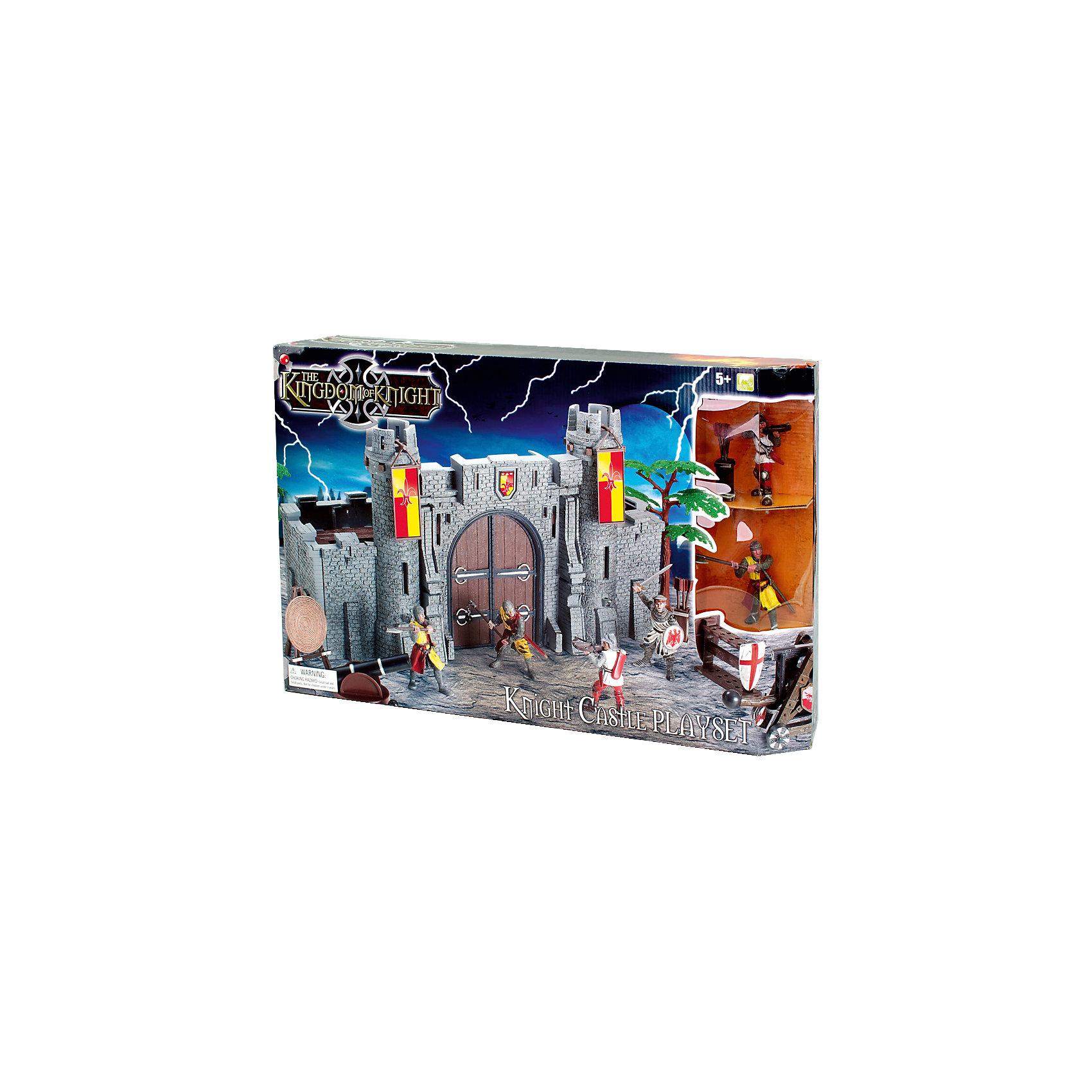 Набор Рыцарский замок, Toy MajorСолдатики и рыцари<br>Набор Рыцарский замок, Toy Major – этот игровой набор обязательно увлечет вашего ребенка.<br>Набор Рыцарский замок обязательно понравится любому мальчику, который любит истории о средневековых турнирах и отважных воинах. У замка есть открывающиеся ворота и две башни. Стены замка изготовлены из толстого пластика - создается впечатление, что это натуральный кирпич! Рыцари вооружены, а также у них есть специальное оборудование для осады замка. С набором можно придумать множество историй, которые увлекут вашего мальчика во времена средневековья. Все детали набора хорошо проработаны и максимально натуралистичны. Изготовлено из высококачественного пластика.<br><br>Дополнительная информация:<br><br>- В наборе: замок-крепость, 4 вооруженных рыцаря (высота 8 см), дерево, мишень, пушка, стойка для оружия со щитом, туба со стрелами, машина-таран<br>- Материал: пластик<br>- Размер упаковки: 35х35х20 см.<br>- Вес: 600 гр.<br><br>Набор Рыцарский замок, Toy Major можно купить в нашем интернет-магазине.<br><br>Ширина мм: 650<br>Глубина мм: 170<br>Высота мм: 500<br>Вес г: 1500<br>Возраст от месяцев: 36<br>Возраст до месяцев: 96<br>Пол: Мужской<br>Возраст: Детский<br>SKU: 4747489