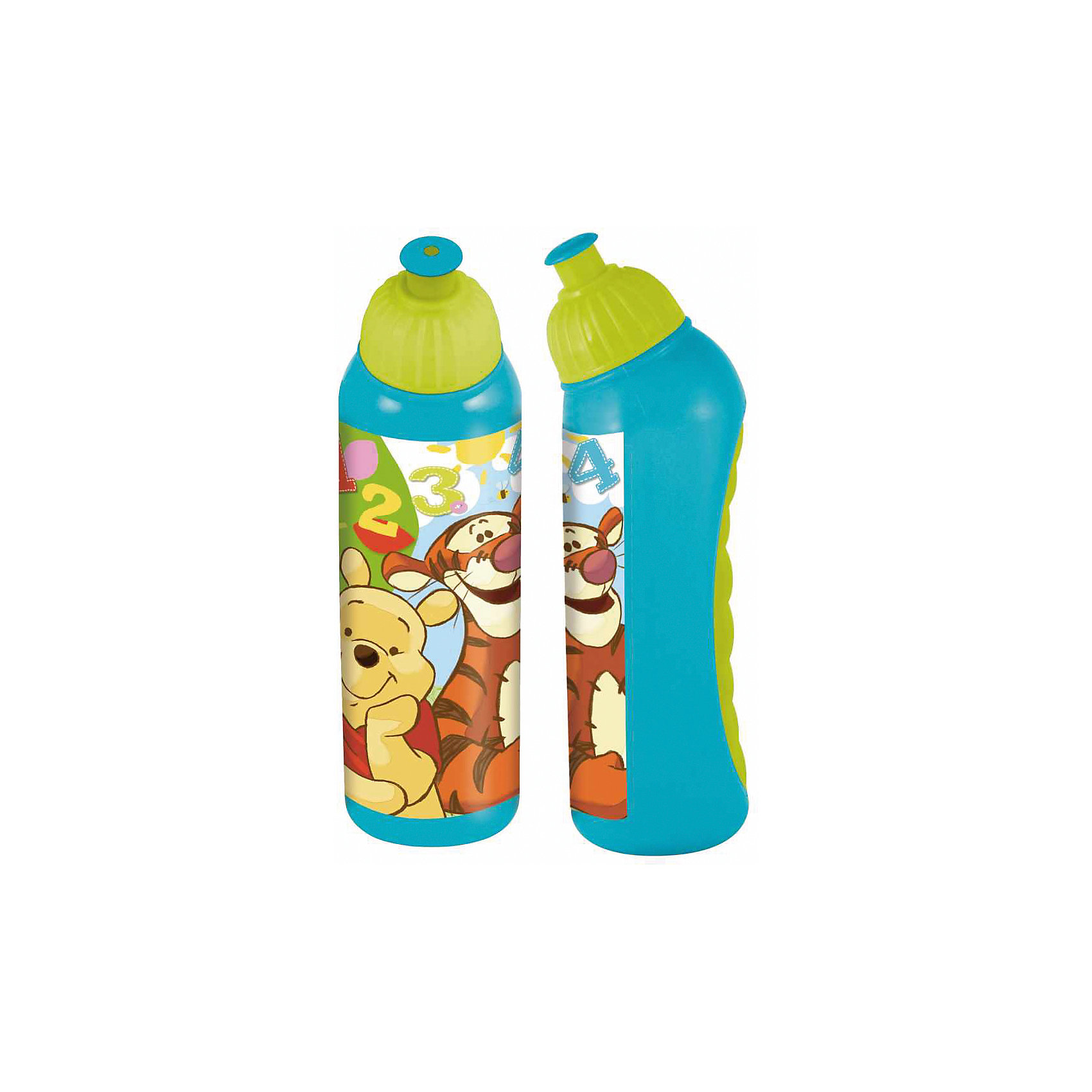 Спортивная бутылка (400 мл), Винни-Пух<br><br>Ширина мм: 62<br>Глубина мм: 58<br>Высота мм: 208<br>Вес г: 68<br>Возраст от месяцев: 36<br>Возраст до месяцев: 144<br>Пол: Унисекс<br>Возраст: Детский<br>SKU: 4748007
