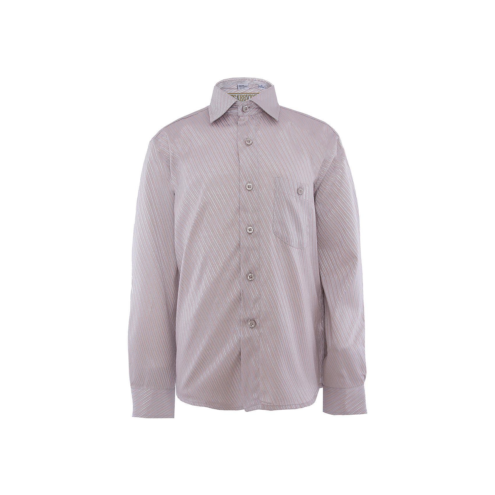Рубашка для мальчика TsarevichБлузки и рубашки<br>Классическая рубашка - неотьемлемая вещь в гардеробе. Модель на пуговицах, с отложным воротником. Свободный покрой не стеснит движений и позволит чувствовать себя комфортно каждый день.  Состав 65 % хл. 35% П/Э<br><br>Ширина мм: 174<br>Глубина мм: 10<br>Высота мм: 169<br>Вес г: 157<br>Цвет: белый<br>Возраст от месяцев: 168<br>Возраст до месяцев: 180<br>Пол: Мужской<br>Возраст: Детский<br>Размер: 164/170,146/152,122/128,128/134,134/140,140/146,146/152,152/158,152/158,158/164<br>SKU: 4749293