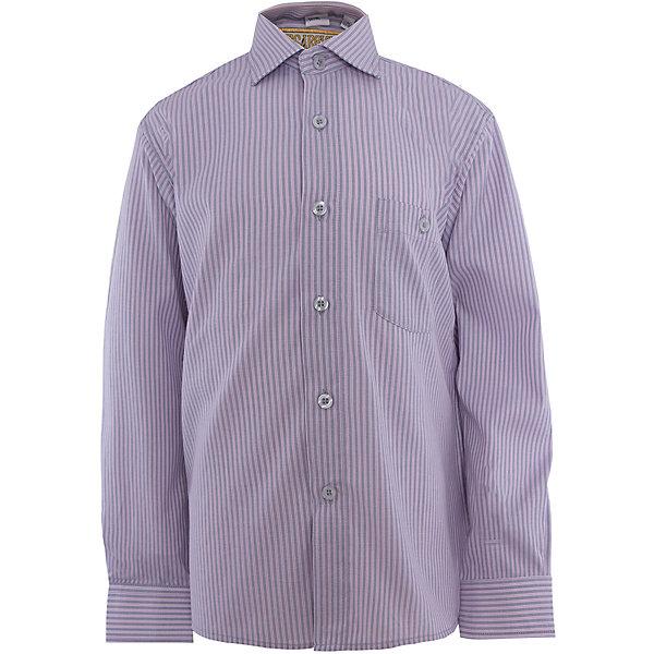 Рубашка для мальчика TsarevichБлузки и рубашки<br>Классическая рубашка - неотьемлемая вещь в гардеробе. Модель на пуговицах, с отложным воротником. Свободный покрой не стеснит движений и позволит чувствовать себя комфортно каждый день.  Состав 65 % хл. 35% П/Э<br><br>Ширина мм: 174<br>Глубина мм: 10<br>Высота мм: 169<br>Вес г: 157<br>Цвет: лиловый<br>Возраст от месяцев: 84<br>Возраст до месяцев: 96<br>Пол: Мужской<br>Возраст: Детский<br>Размер: 122/128,164/170,158/164,152/158,152/158,146/152,146/152,140/146,134/140,128/134<br>SKU: 4749304