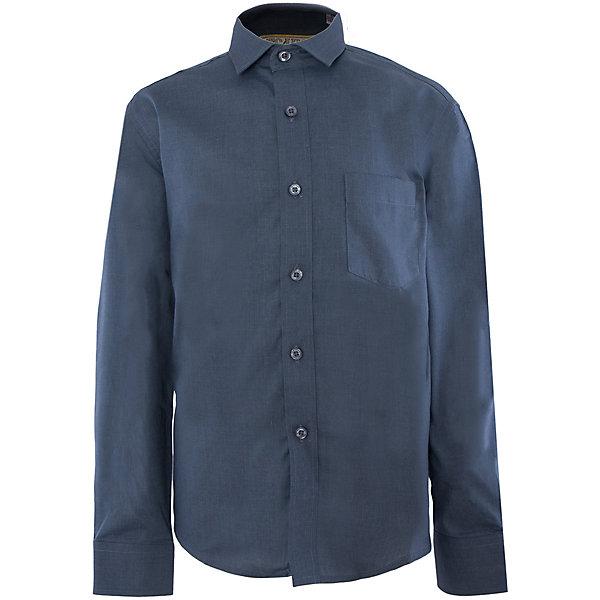 Рубашка для мальчика TsarevichБлузки и рубашки<br>Классическая рубашка - неотьемлемая вещь в гардеробе. Модель на пуговицах, с отложным воротником. Свободный покрой не стеснит движений и позволит чувствовать себя комфортно каждый день.  Состав 80 % хл. 20% П/Э<br><br>Ширина мм: 174<br>Глубина мм: 10<br>Высота мм: 169<br>Вес г: 157<br>Цвет: голубой<br>Возраст от месяцев: 84<br>Возраст до месяцев: 96<br>Пол: Мужской<br>Возраст: Детский<br>Размер: 128,170,164,158,158,152,152,146,140,134<br>SKU: 4749337