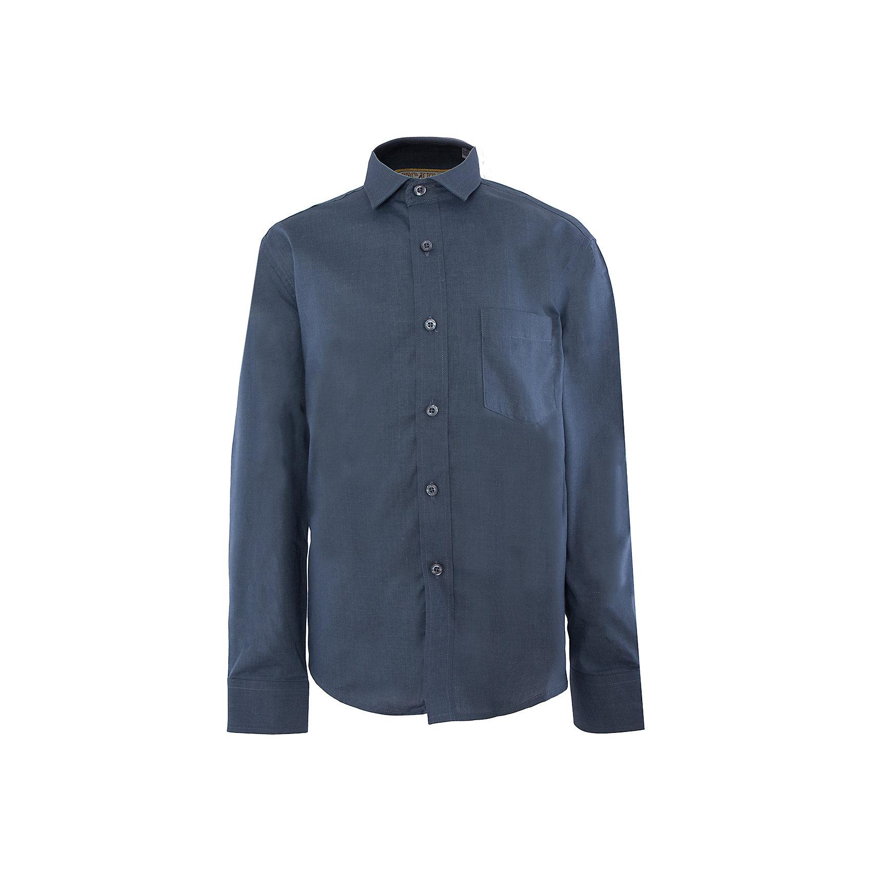 Рубашка для мальчика TsarevichБлузки и рубашки<br>Классическая рубашка - неотьемлемая вещь в гардеробе. Модель на пуговицах, с отложным воротником. Свободный покрой не стеснит движений и позволит чувствовать себя комфортно каждый день.  Состав 80 % хл. 20% П/Э<br><br>Ширина мм: 174<br>Глубина мм: 10<br>Высота мм: 169<br>Вес г: 157<br>Цвет: голубой<br>Возраст от месяцев: 168<br>Возраст до месяцев: 180<br>Пол: Мужской<br>Возраст: Детский<br>Размер: 158,164,170,128,134,140,146,152,152,158<br>SKU: 4749337