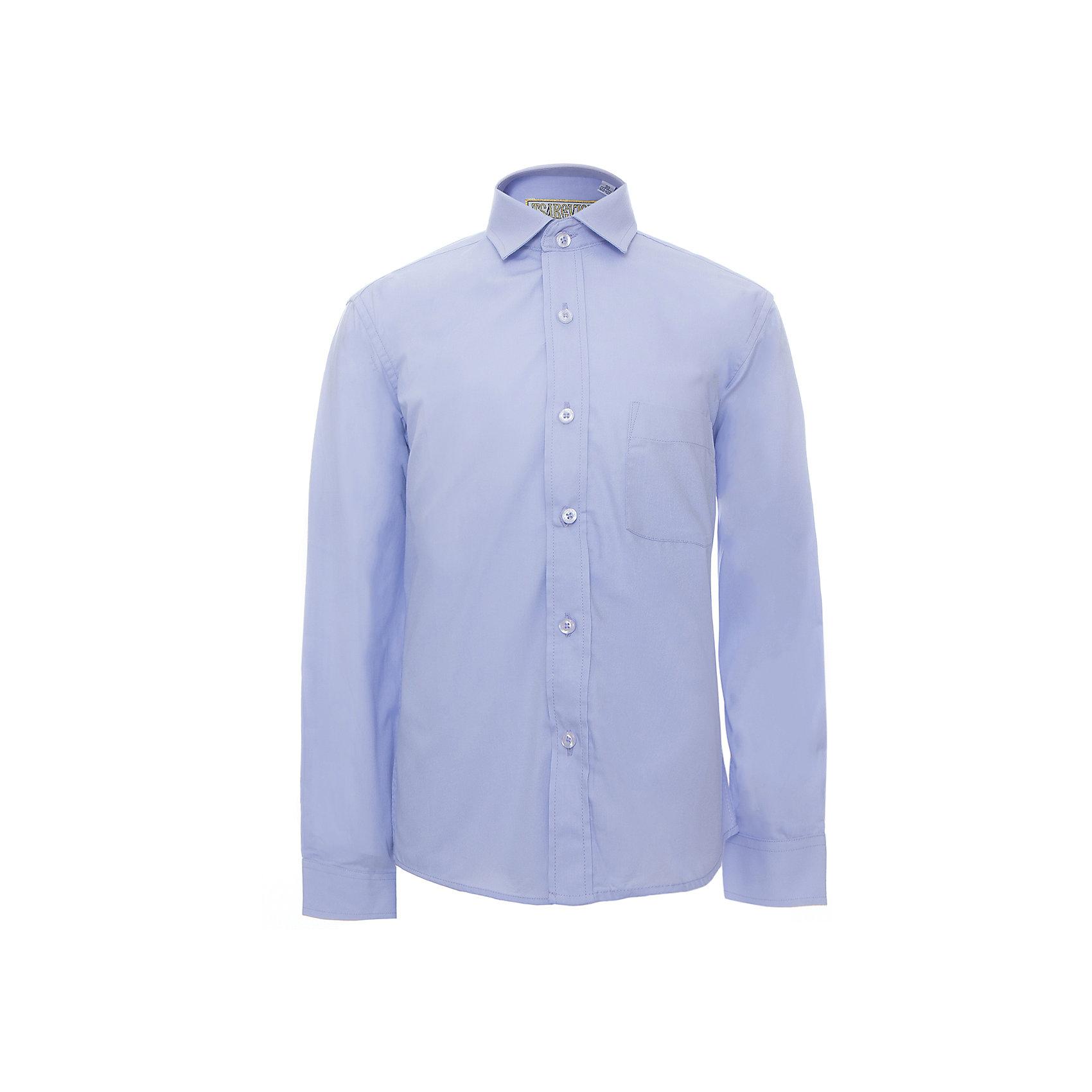 Рубашка для мальчика TsarevichБлузки и рубашки<br>Классическая рубашка - неотьемлемая вещь в гардеробе. Модель на пуговицах, с отложным воротником. Свободный покрой не стеснит движений и позволит чувствовать себя комфортно каждый день.  Состав 80 % хл. 20% П/Э<br><br>Ширина мм: 174<br>Глубина мм: 10<br>Высота мм: 169<br>Вес г: 157<br>Цвет: фиолетовый<br>Возраст от месяцев: 120<br>Возраст до месяцев: 132<br>Пол: Мужской<br>Возраст: Детский<br>Размер: 140/146,128/134,134/140,146/152,146/152,152/158,152/158,158/164,164/170,122/128<br>SKU: 4749348