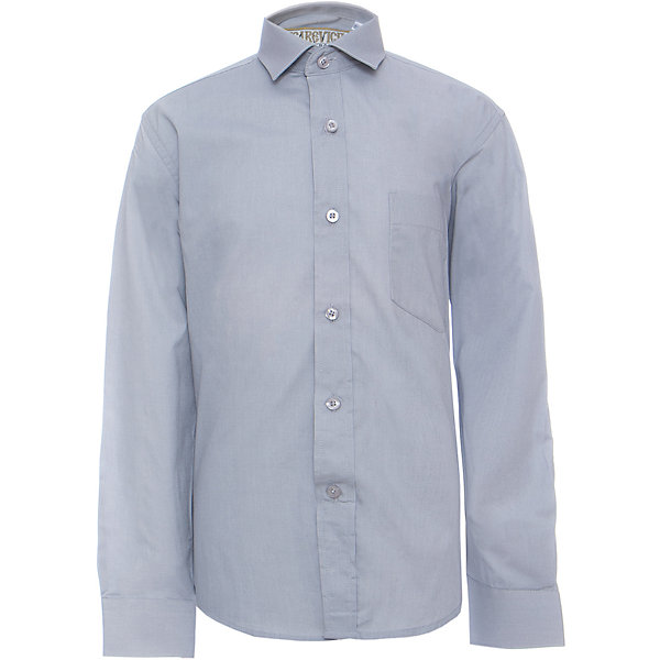 Рубашка для мальчика TsarevichБлузки и рубашки<br>Классическая рубашка - неотьемлемая вещь в гардеробе. Модель на пуговицах, с отложным воротником. Свободный покрой не стеснит движений и позволит чувствовать себя комфортно каждый день.  Состав 80 % хл. 20% П/Э<br>Ширина мм: 174; Глубина мм: 10; Высота мм: 169; Вес г: 157; Цвет: серый; Возраст от месяцев: 132; Возраст до месяцев: 144; Пол: Мужской; Возраст: Детский; Размер: 146/152,122/128,164/170,158/164,152/158,152/158,146/152,140/146,134/140,128/134; SKU: 4749359;